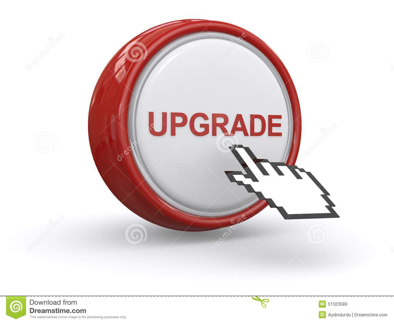 Upgrade Button Stock Image Of Better Technology