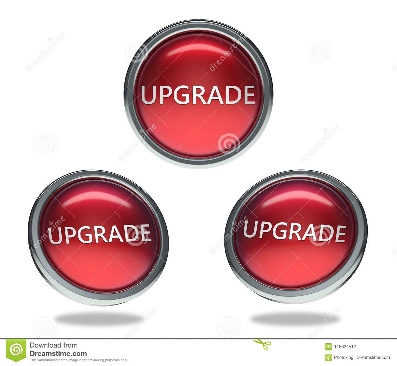 Upgrade Glass Button Stock Illustration Of Frame3d