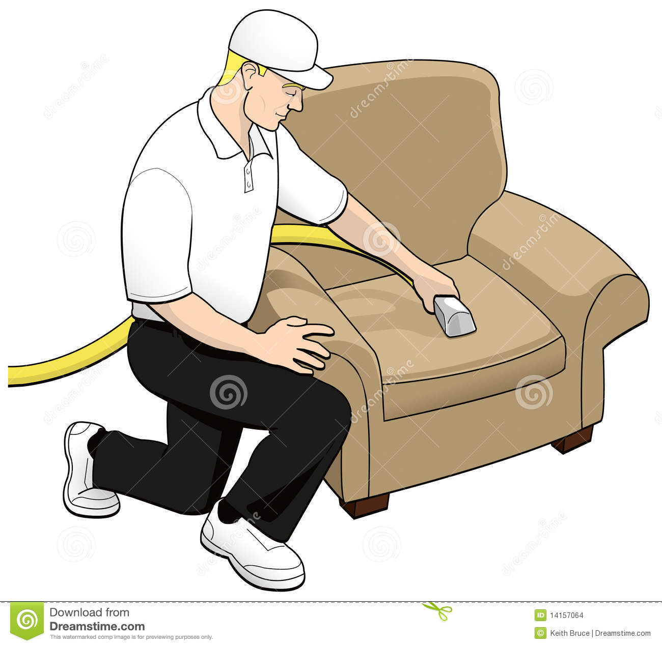Upholstery Cleaning Tech Clip Art Stock Images Image