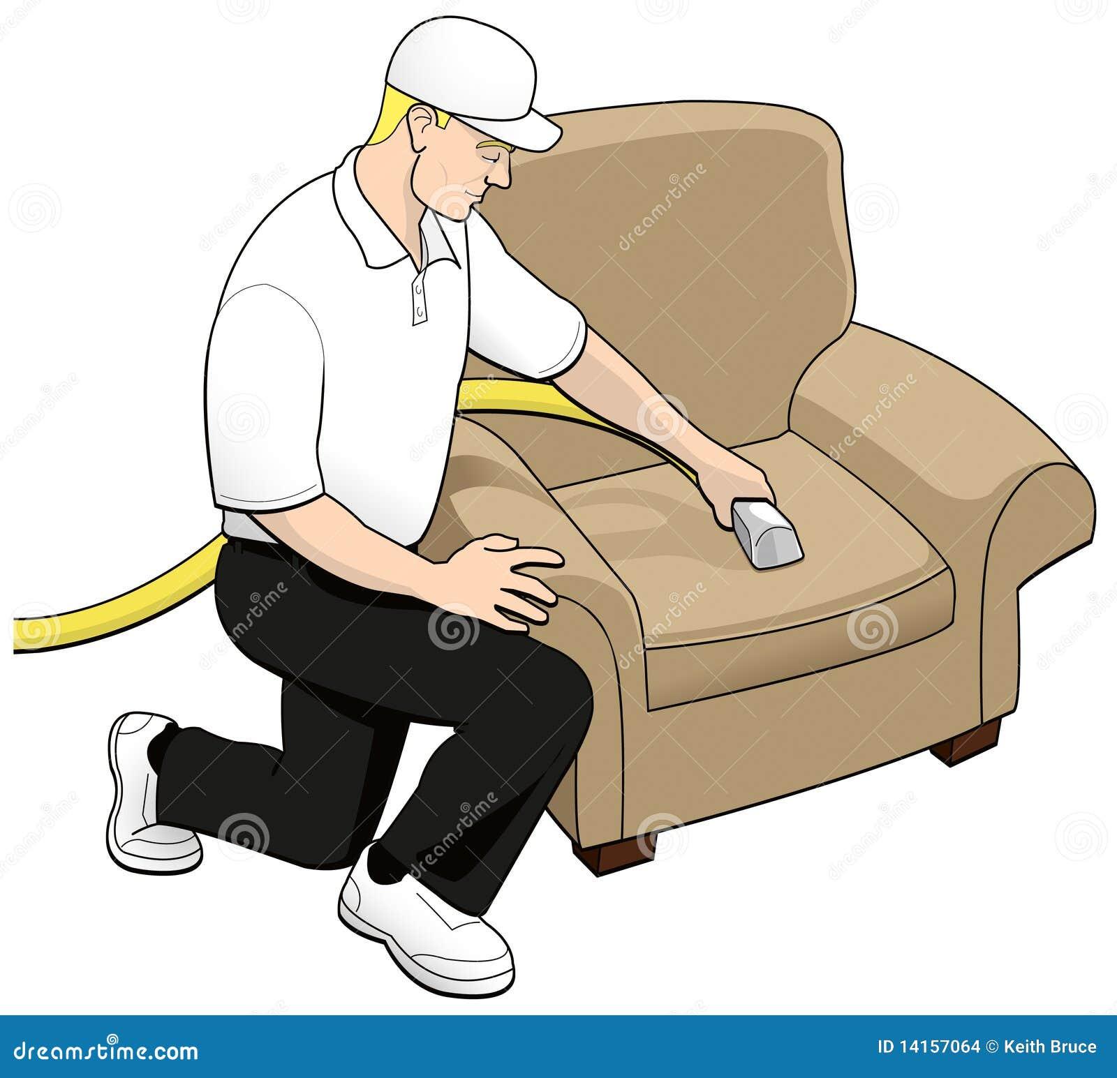 Upholstery för tech för konstcleaninggem