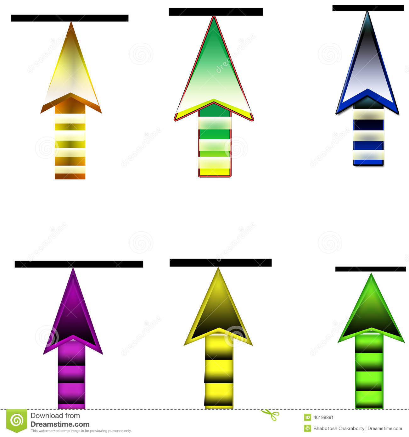 6 Upload Arrow Button Stock Image. Illustration Of