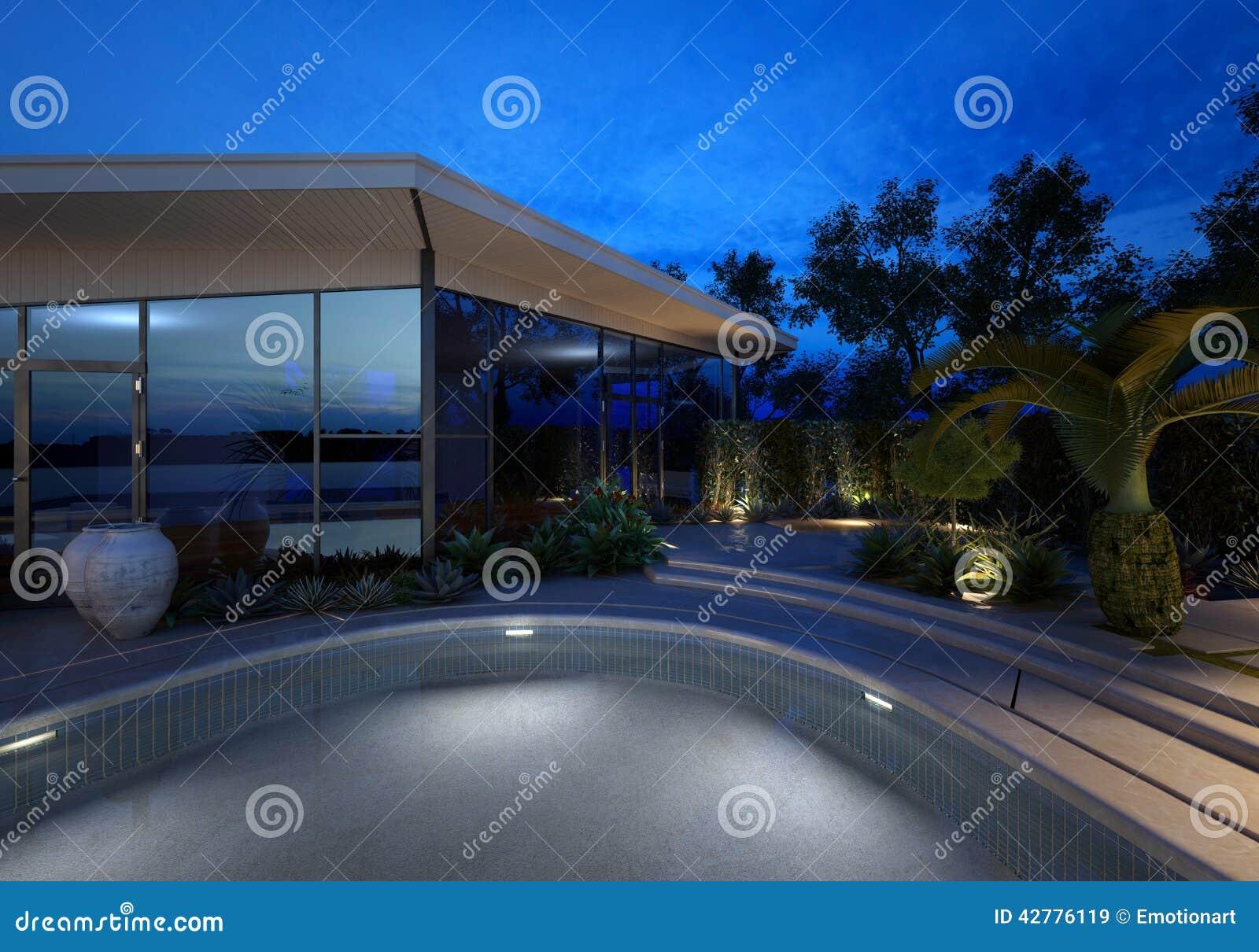 Fachada Diseño Y Piscina (Exterior Fachada Diseño, Diseño Fachada de la piscina)