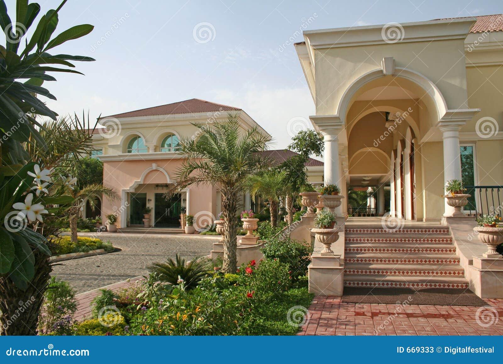 upmarket super rich royal home architecture stock image. Black Bedroom Furniture Sets. Home Design Ideas