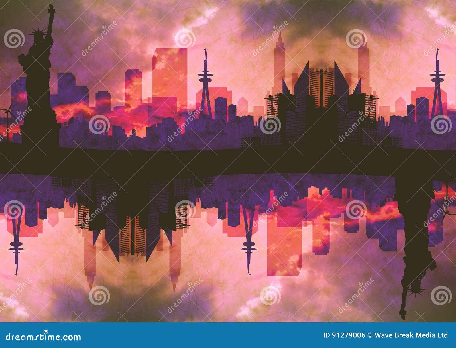 Upp för sida stad ner Rosa färger, 1 upp och 1 för NY ner