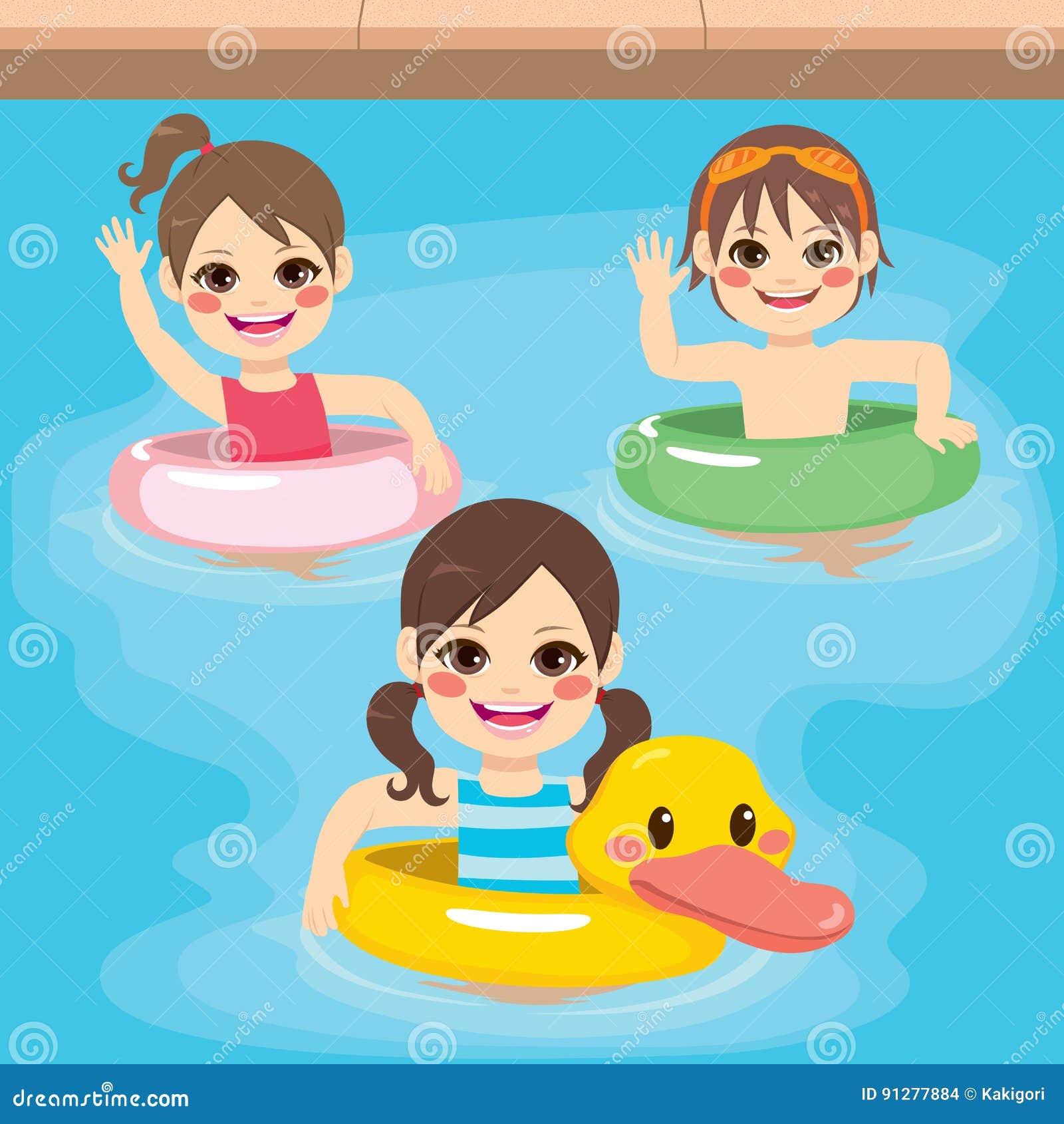 Uppblåsbar simning för barn