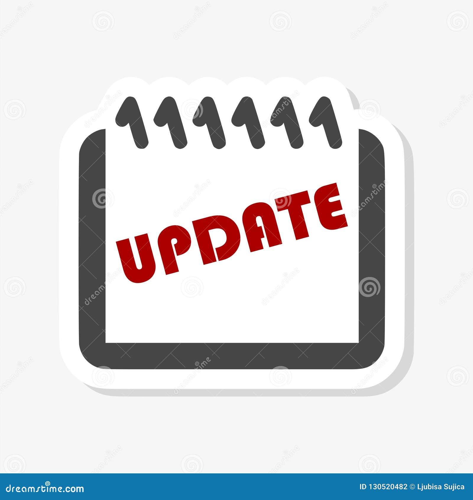Uppdatering uppdateringprogramvaruklistermärke