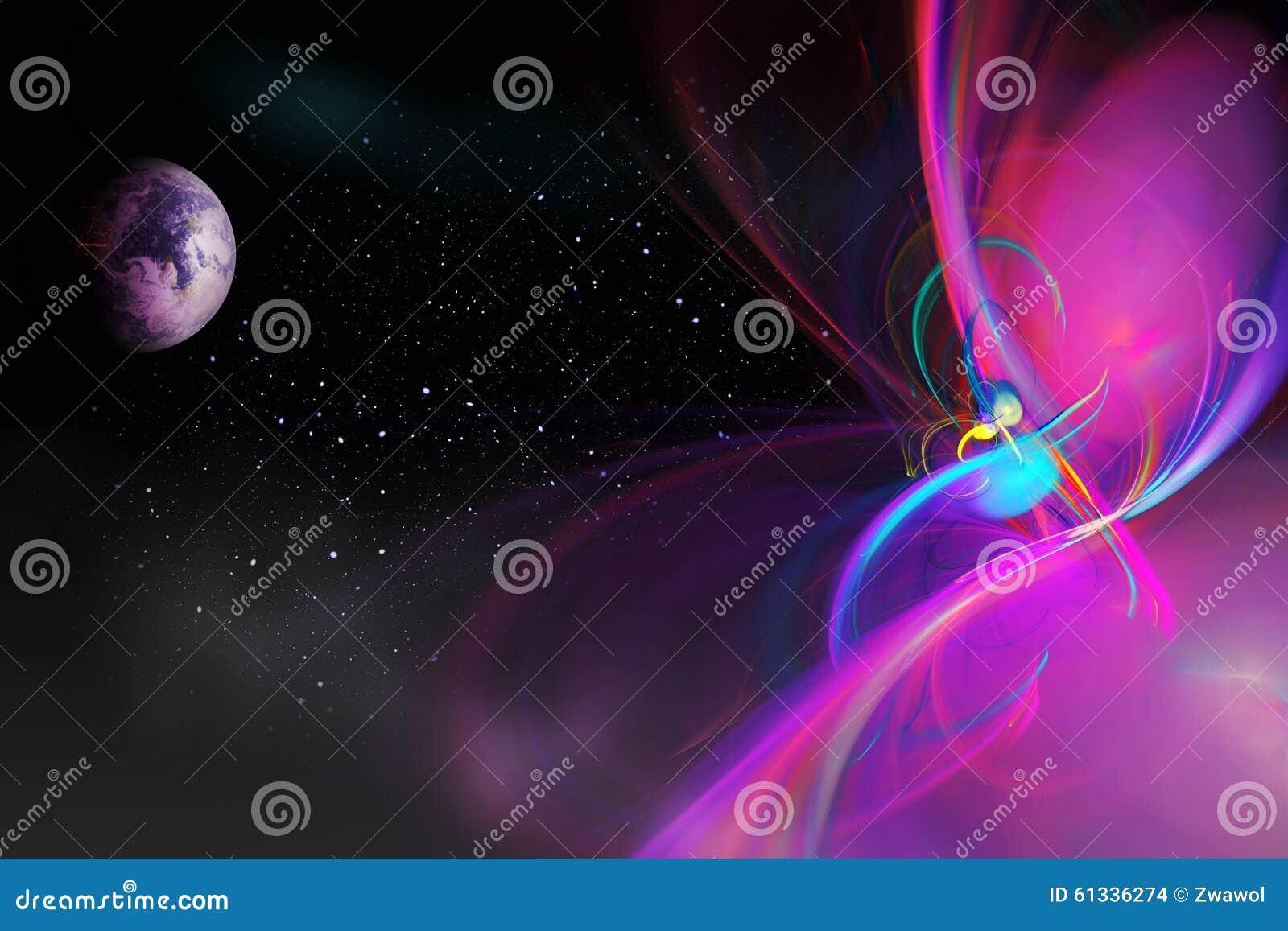 Uppdiktat utrymme med planeter