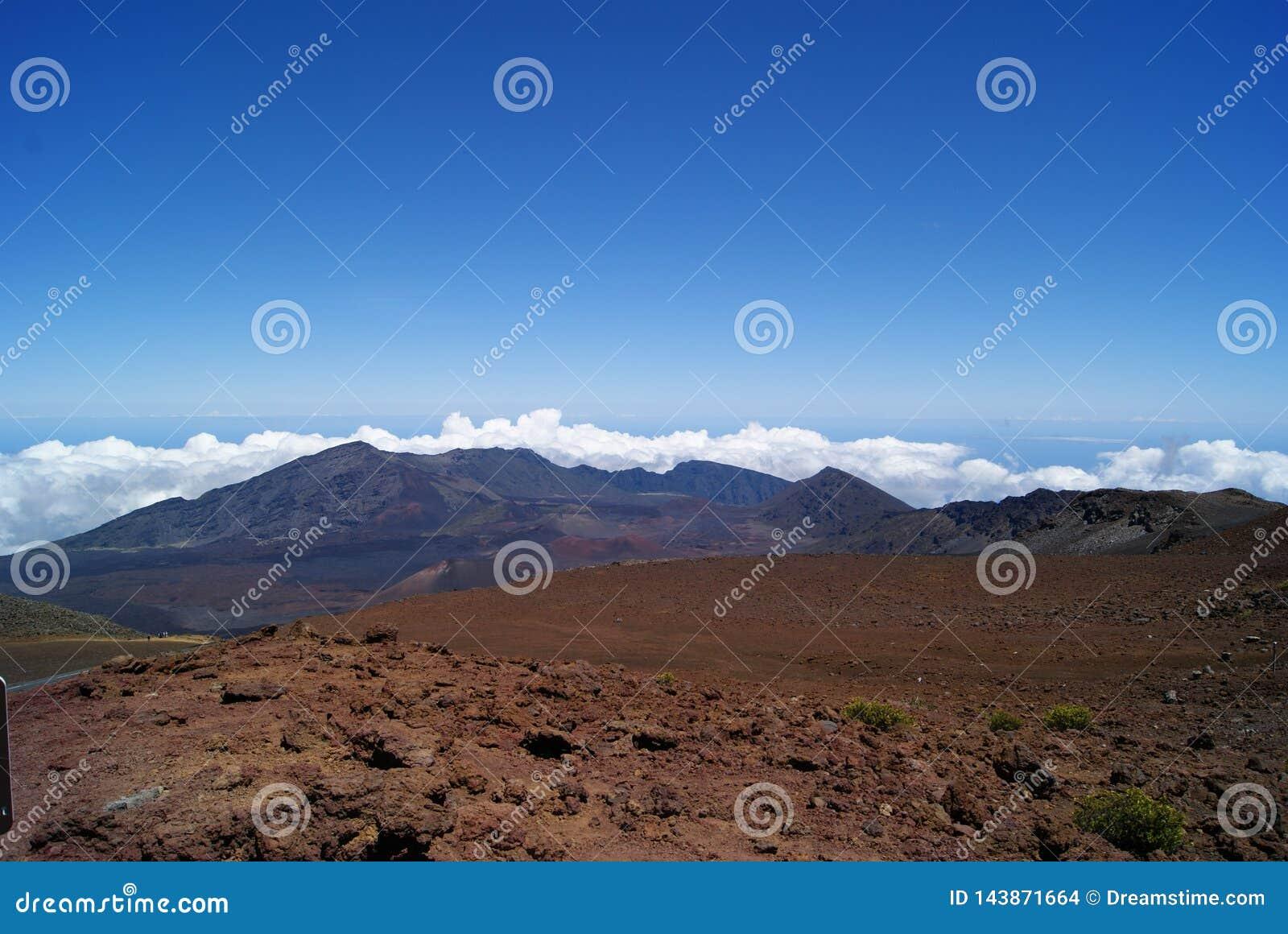 Uppe på av den Haleakala vulkan i Maui Hawaii