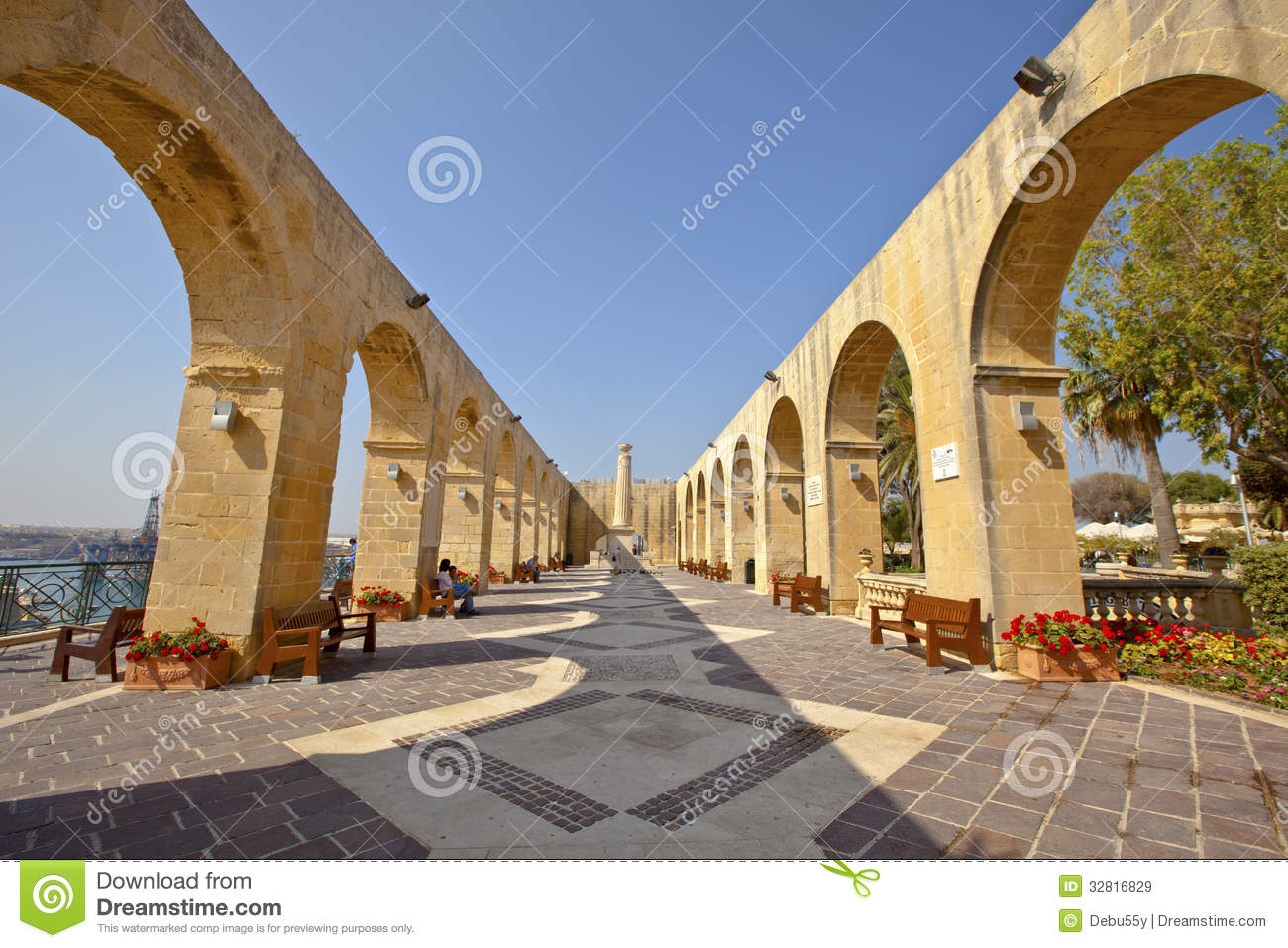 Upper Barrakka Gardens In Valletta Malta Editorial Stock