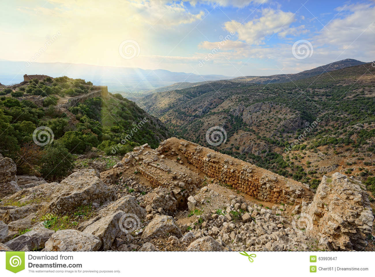 Upper Galilee mountains. North of Israel.