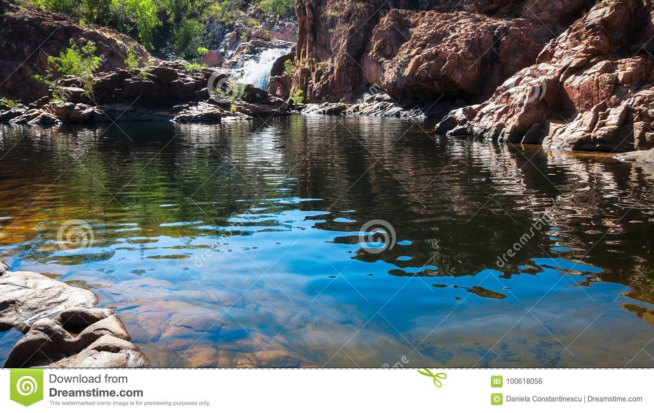 Low angle view at Edith Falls, Northern Territory, Australia