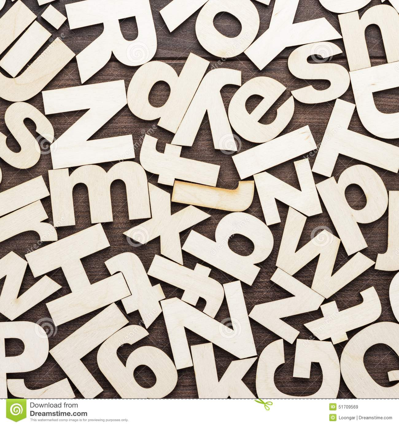 uppercase and lowercase wooden letters background
