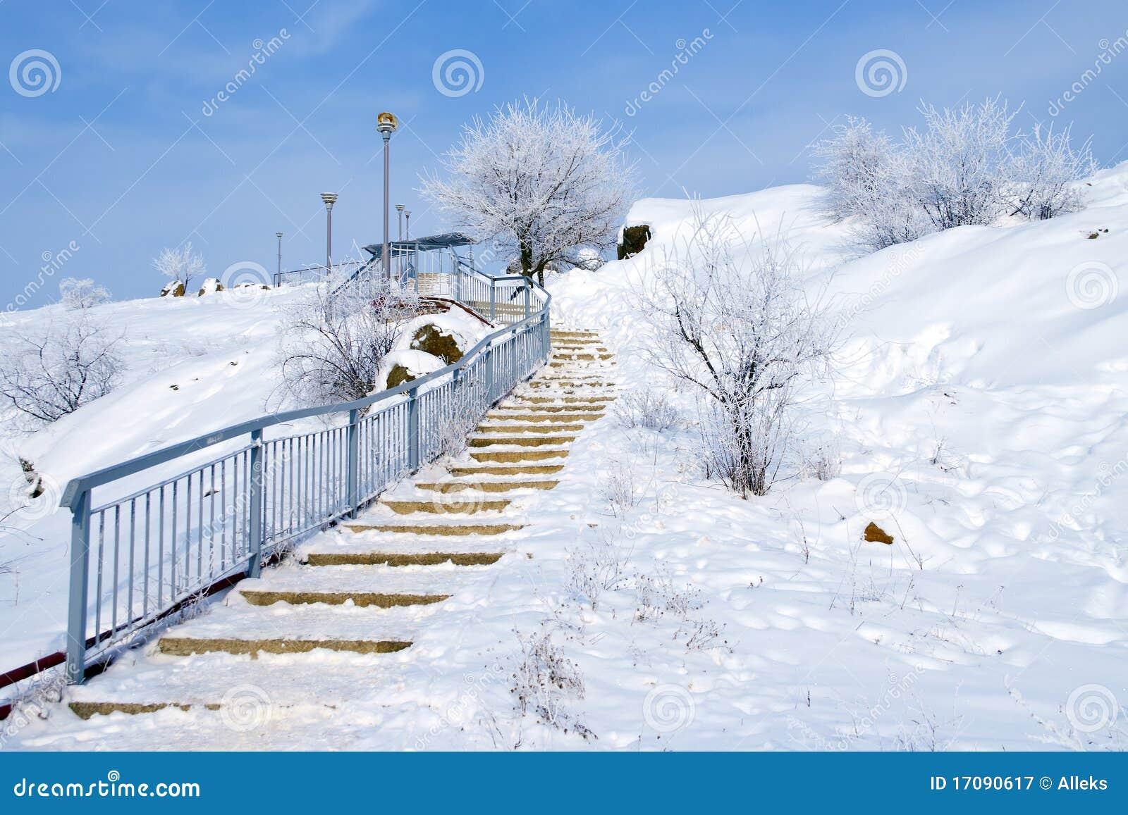 Uppför trappan vinter