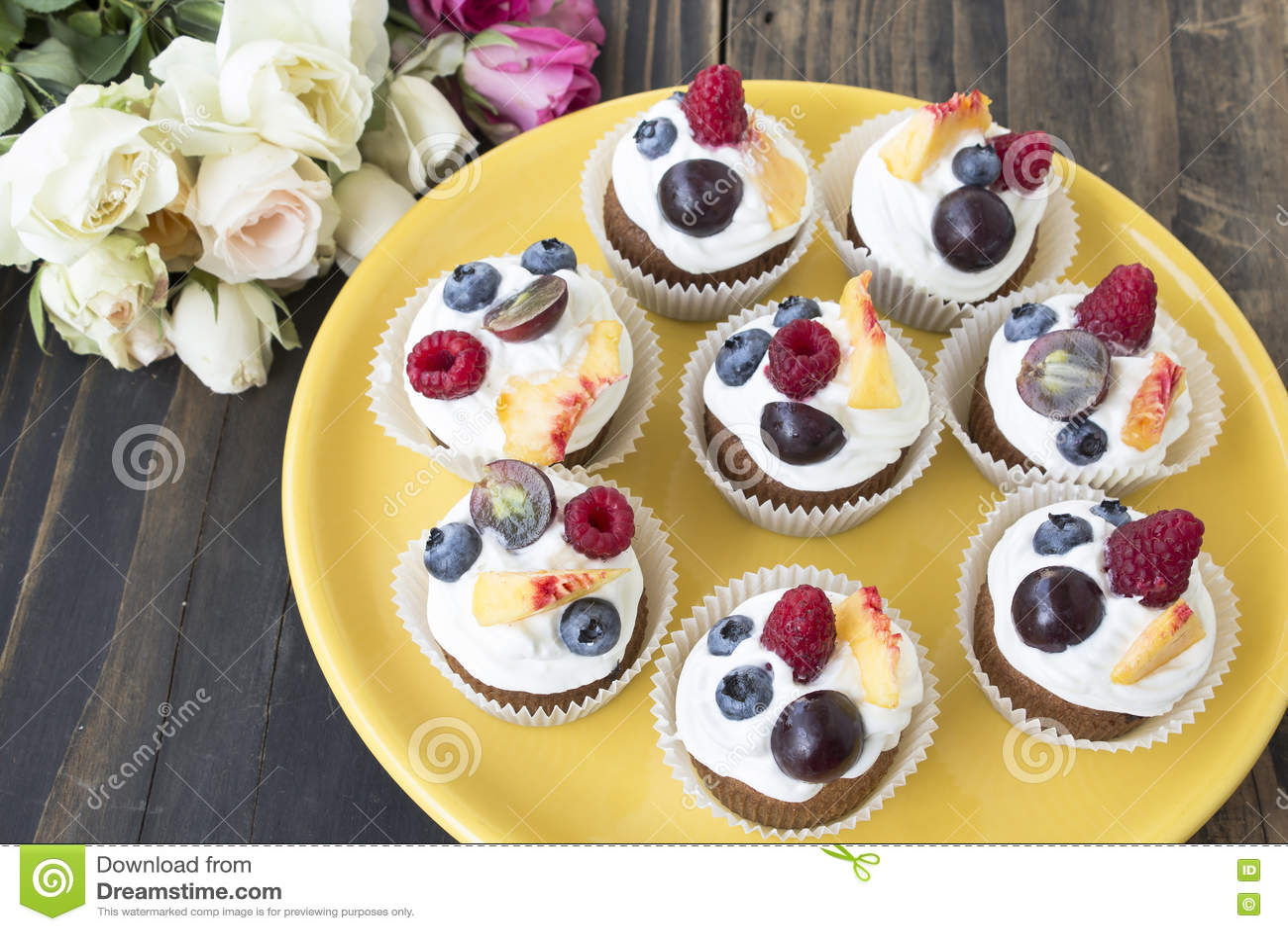 Uppfriskande fruktmuffin