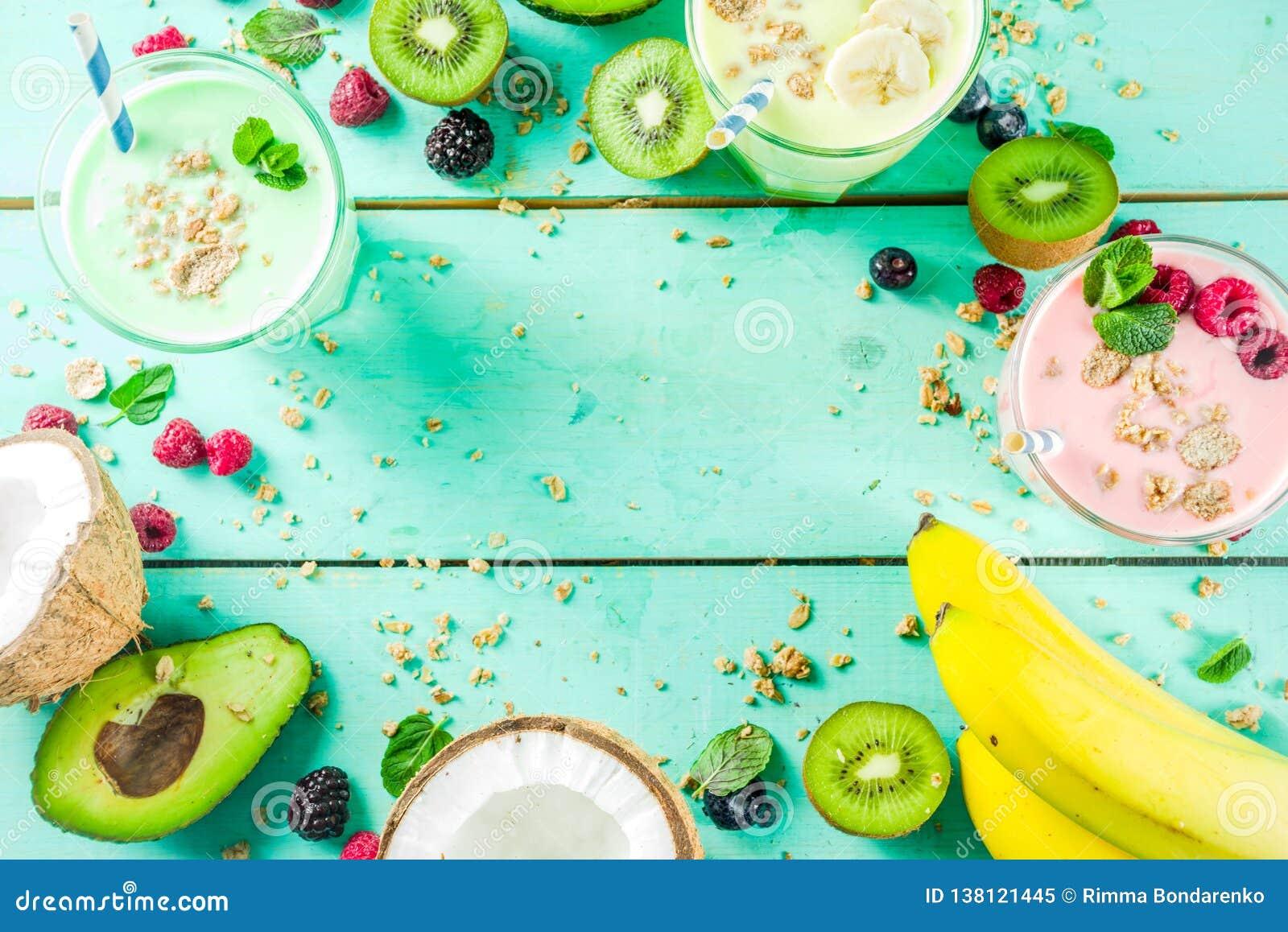 Uppfriskande milkshakar eller smoothies