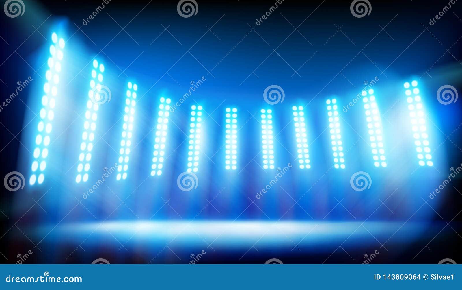Upplyst etapp p? stadion background card congratulation invitation ocks? vektor f?r coreldrawillustration