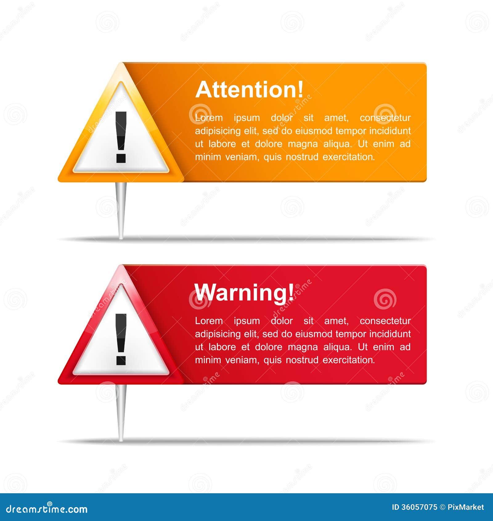 Uppmärksamhet- och varningsbaner