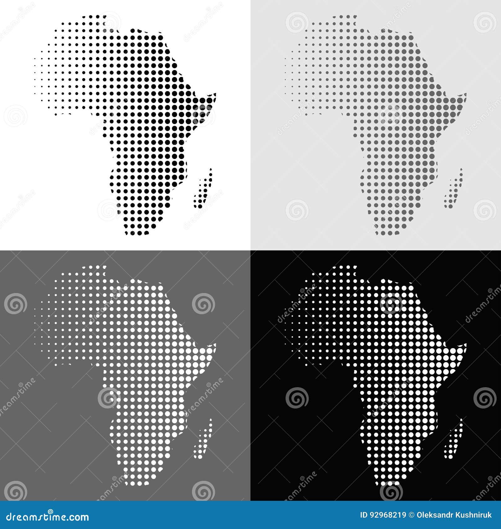 Uppsättning av den rastrerade vektorAfrika översikten