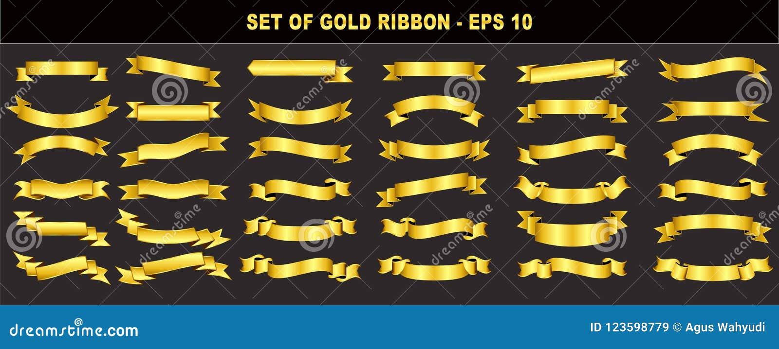 Uppsättning av det guld- bandet