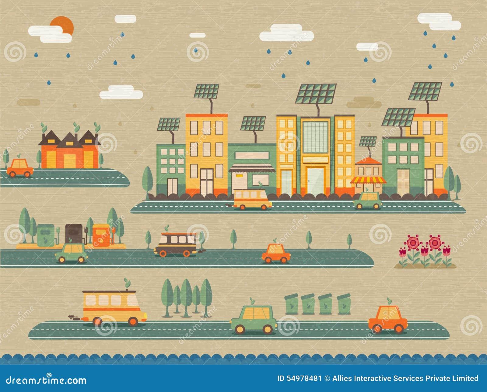 Uppsättning av ekologiska infographic beståndsdelar