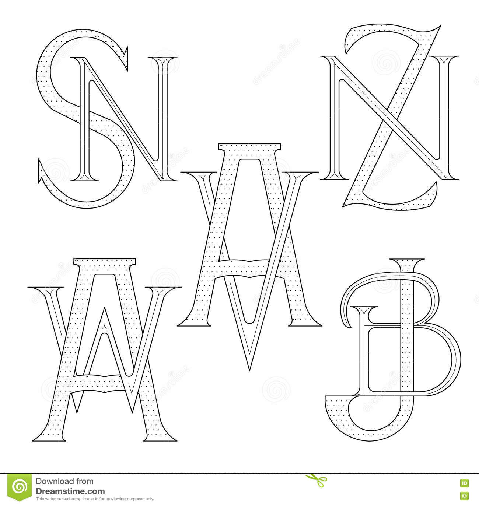 Monogram bokstäver gratis