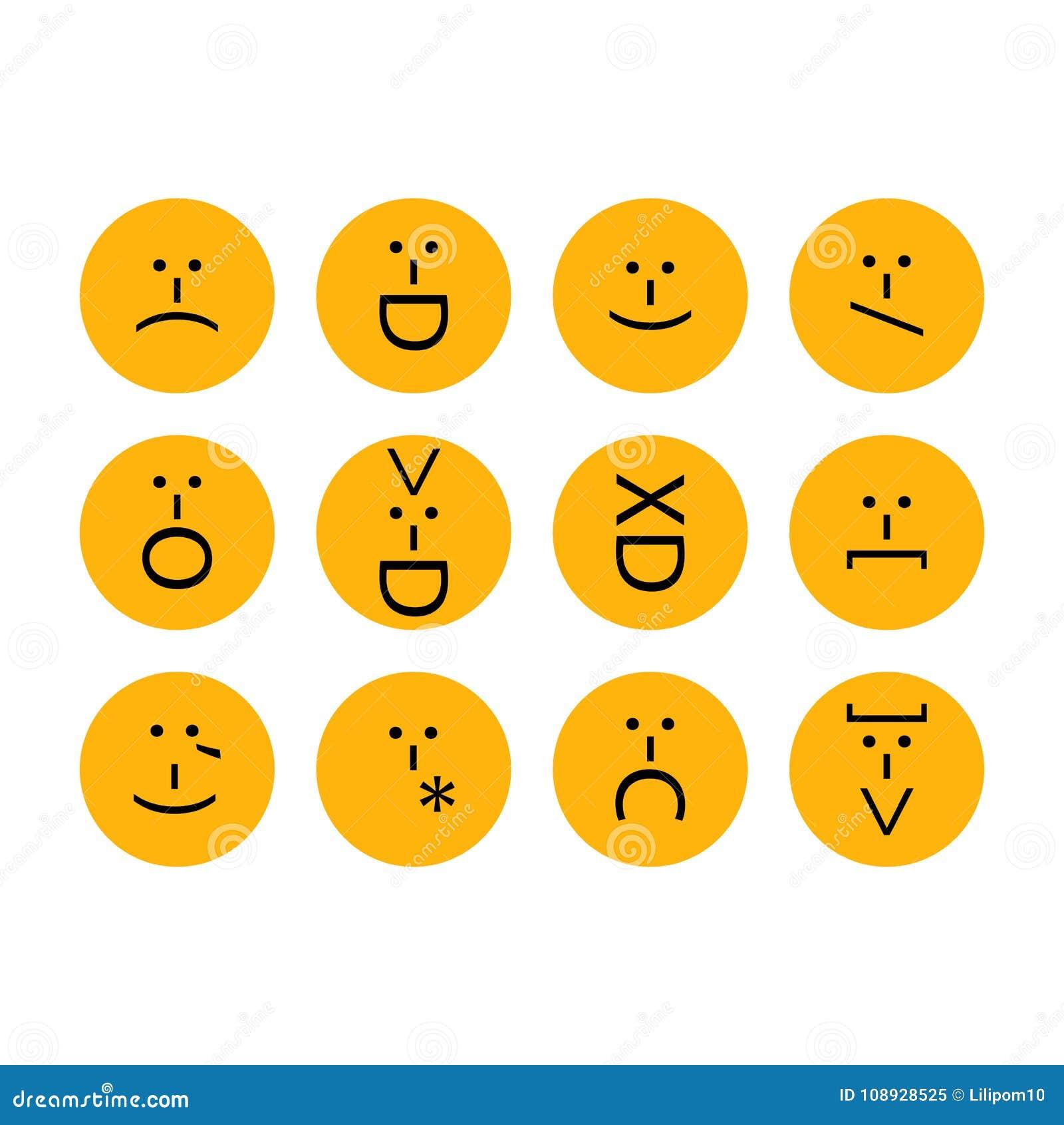 smileys med tecken