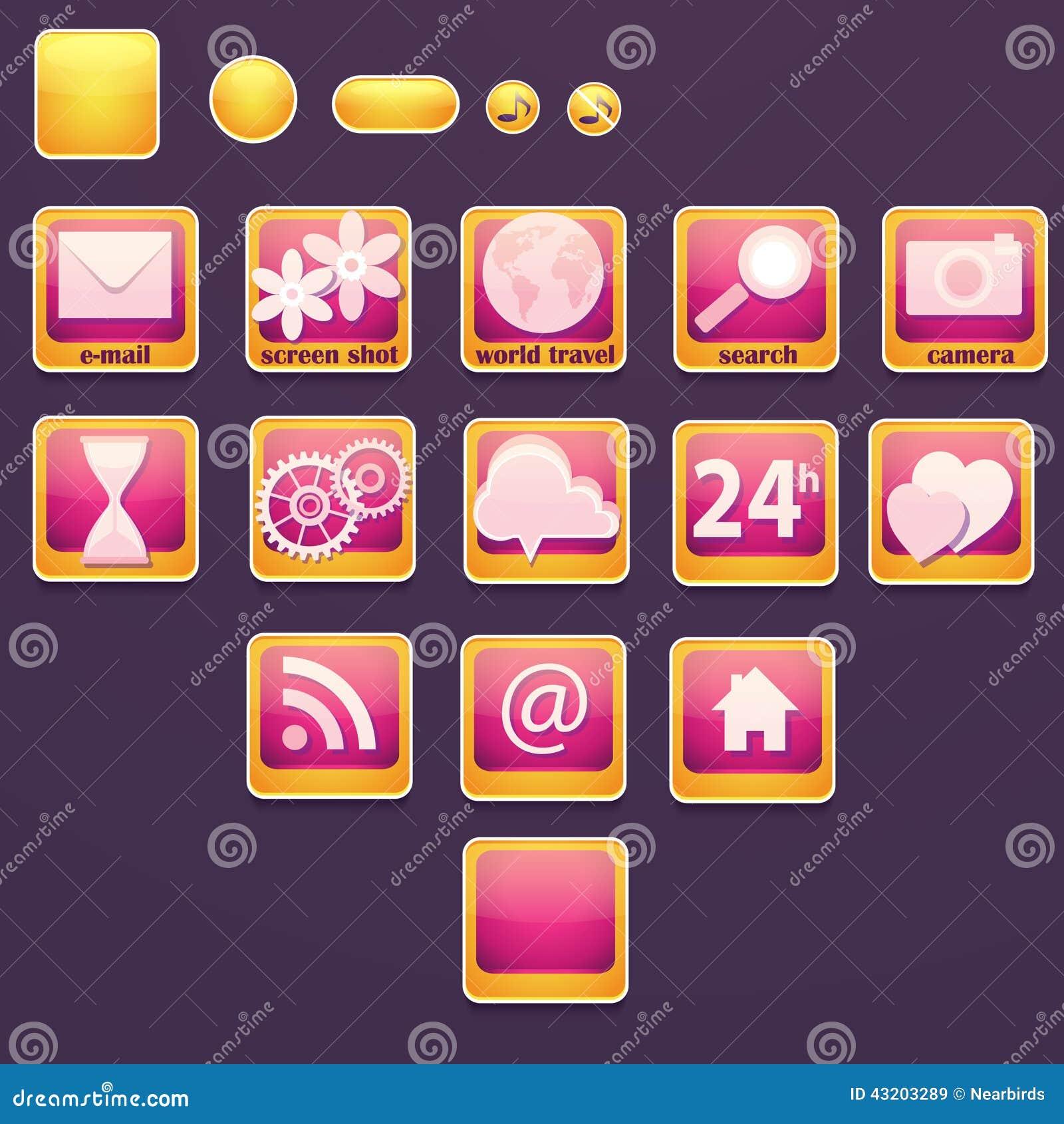 Download Uppsättning Av Knappar Med Sociala Symboler Vektor Illustrationer - Illustration av blyertspenna, kommunikationer: 43203289