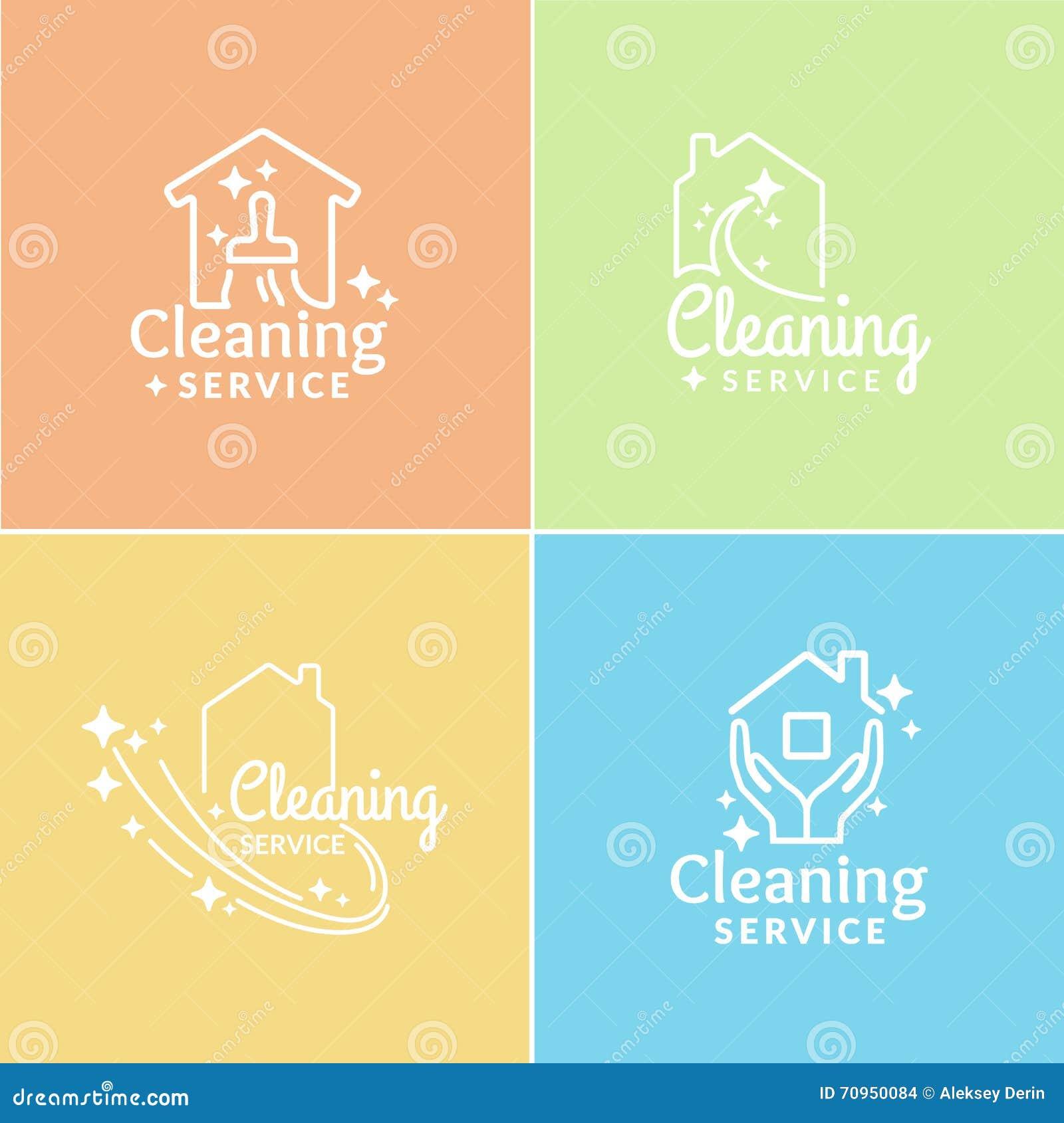 Uppsättning av Logo Cleaning Service
