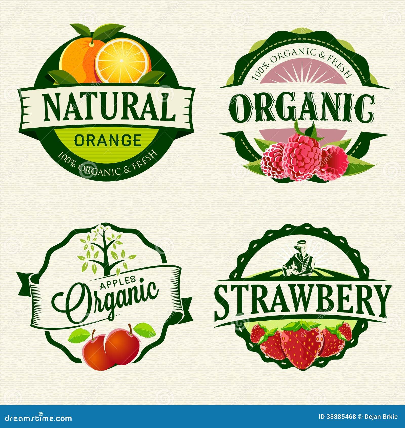 Uppsättning av nya & organiska etiketter