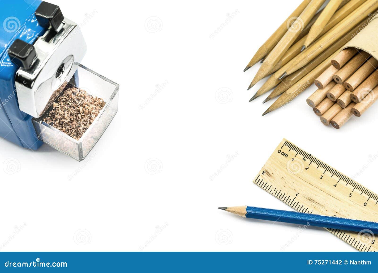 Uppsättning av olika skolaobjekt, vektorillustration