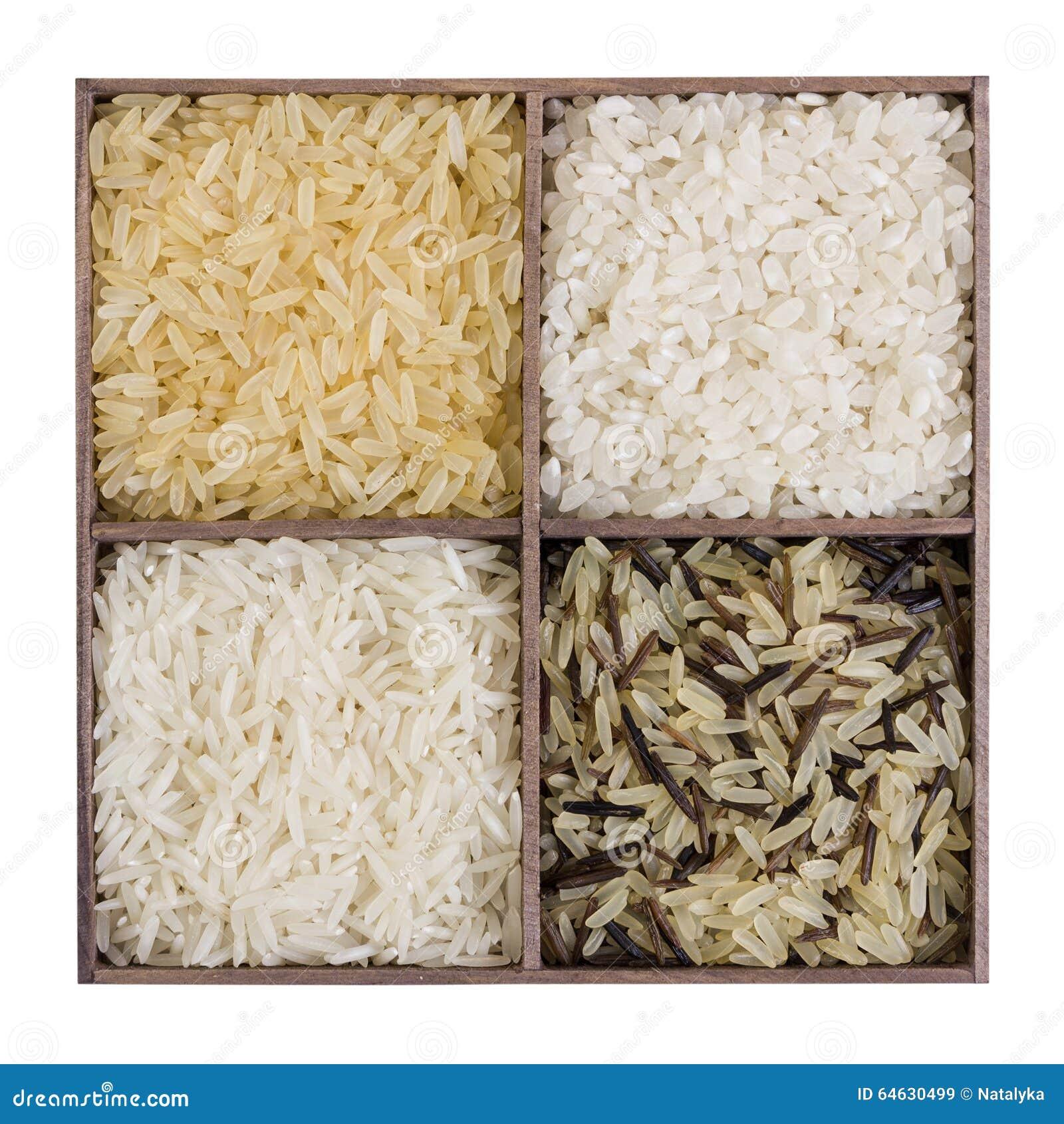 olika sorters ris