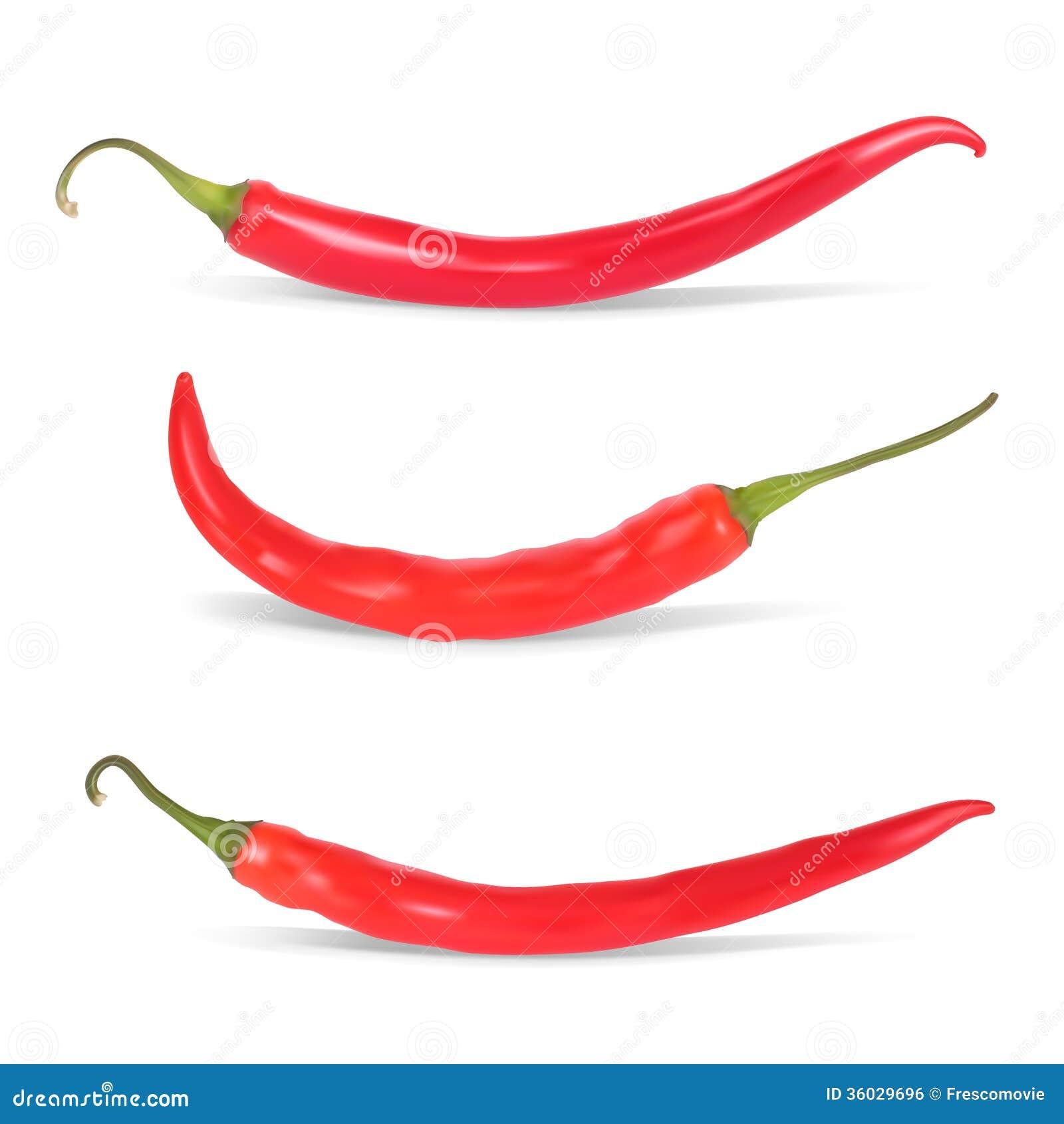 Uppsättning av peppar för varm chili.