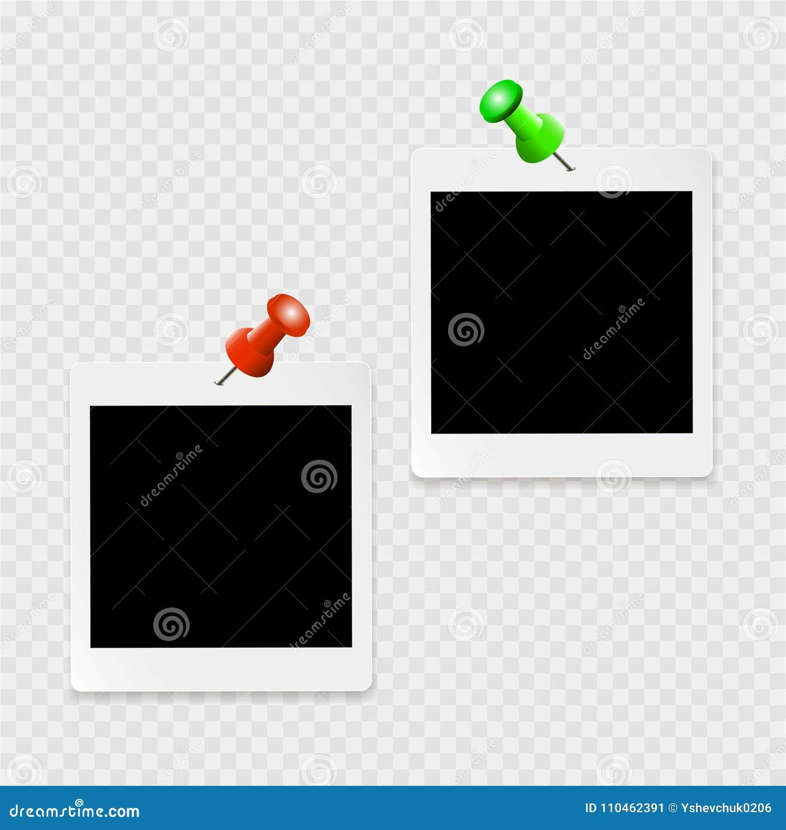Uppsättning av photoframes med vita kontur- och färggem på en genomskinlig bakgrund