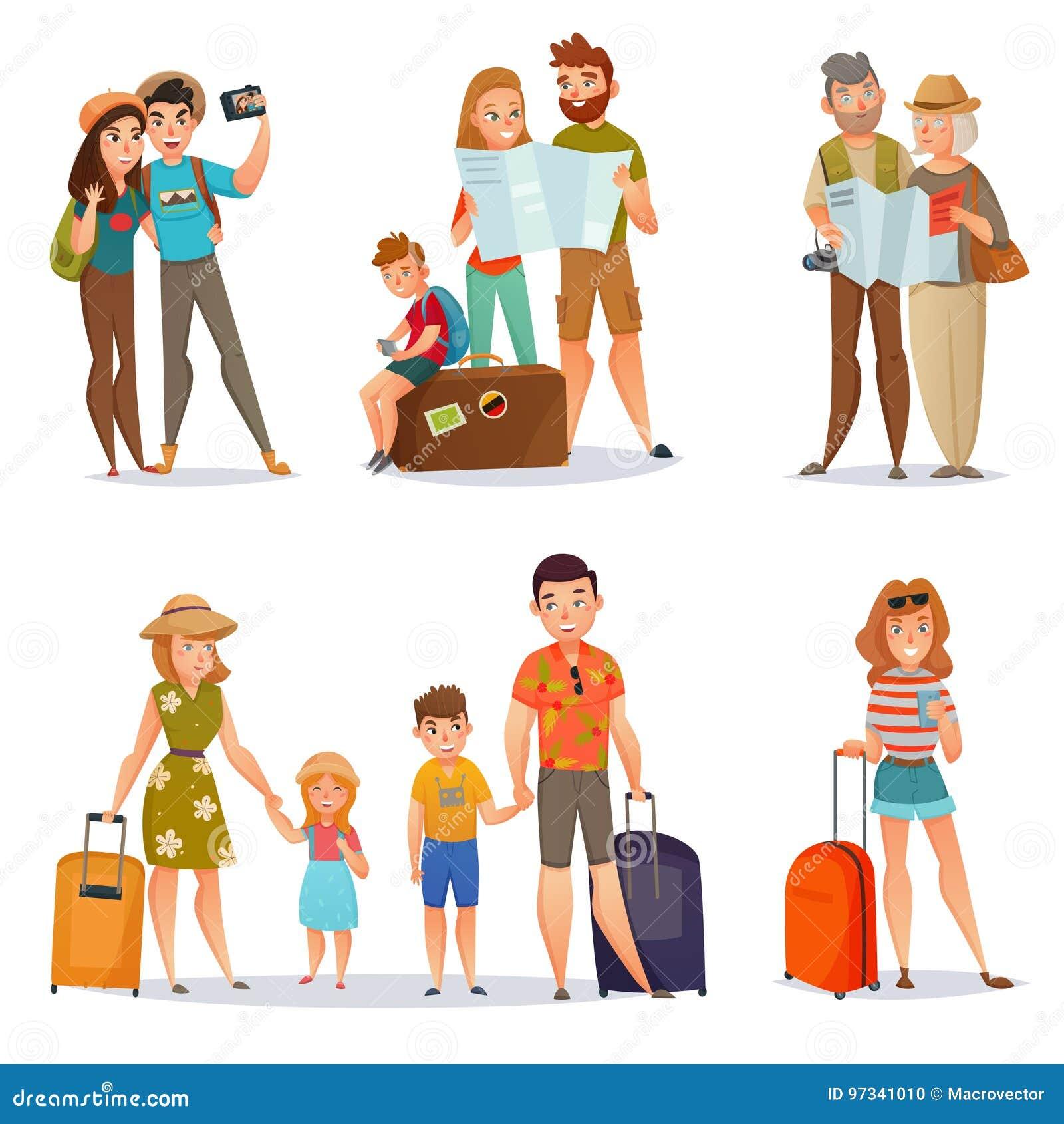Uppsättning av resande folk