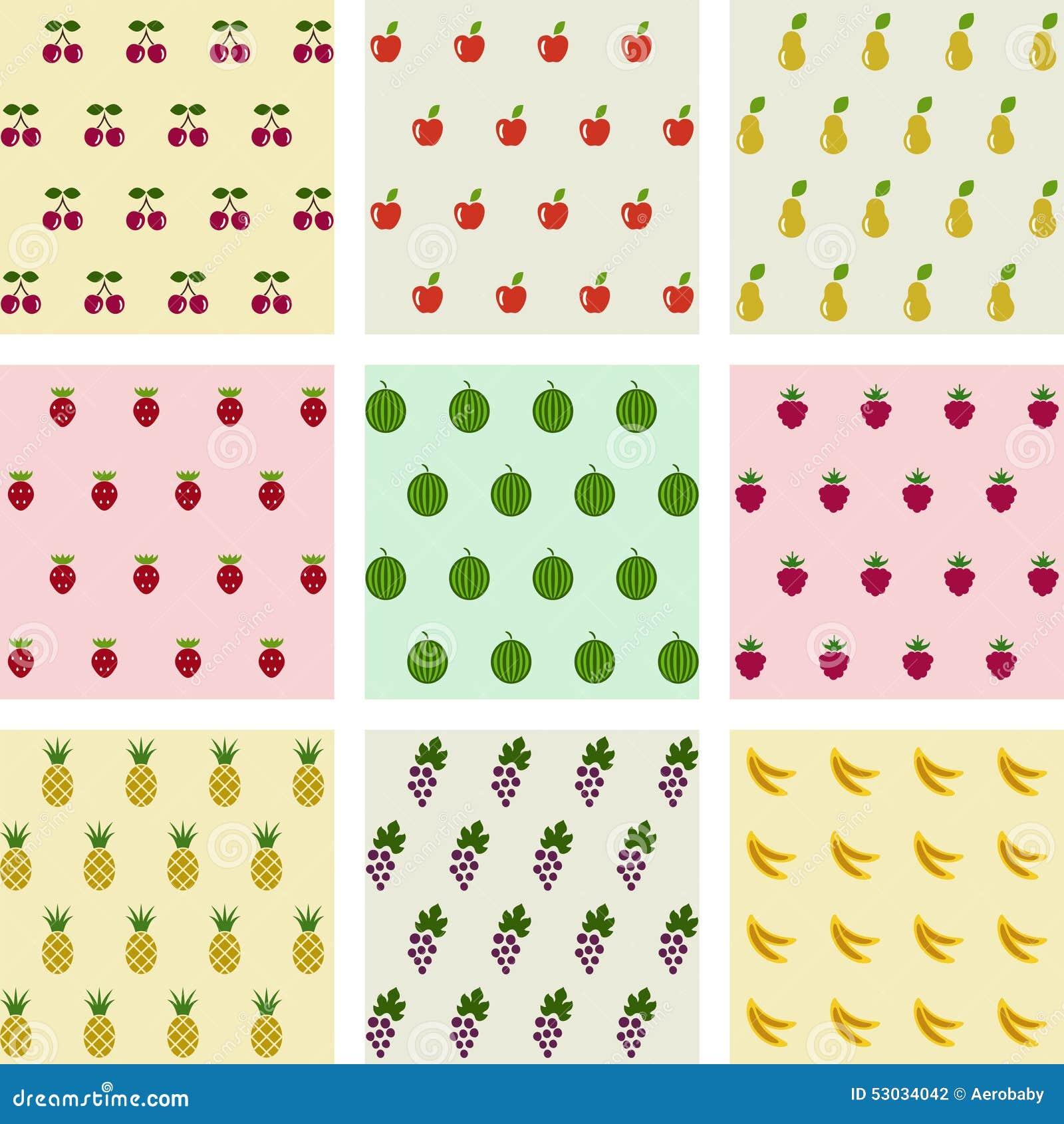 Uppsättning av sömlösa fruktbakgrunder för prövkopior