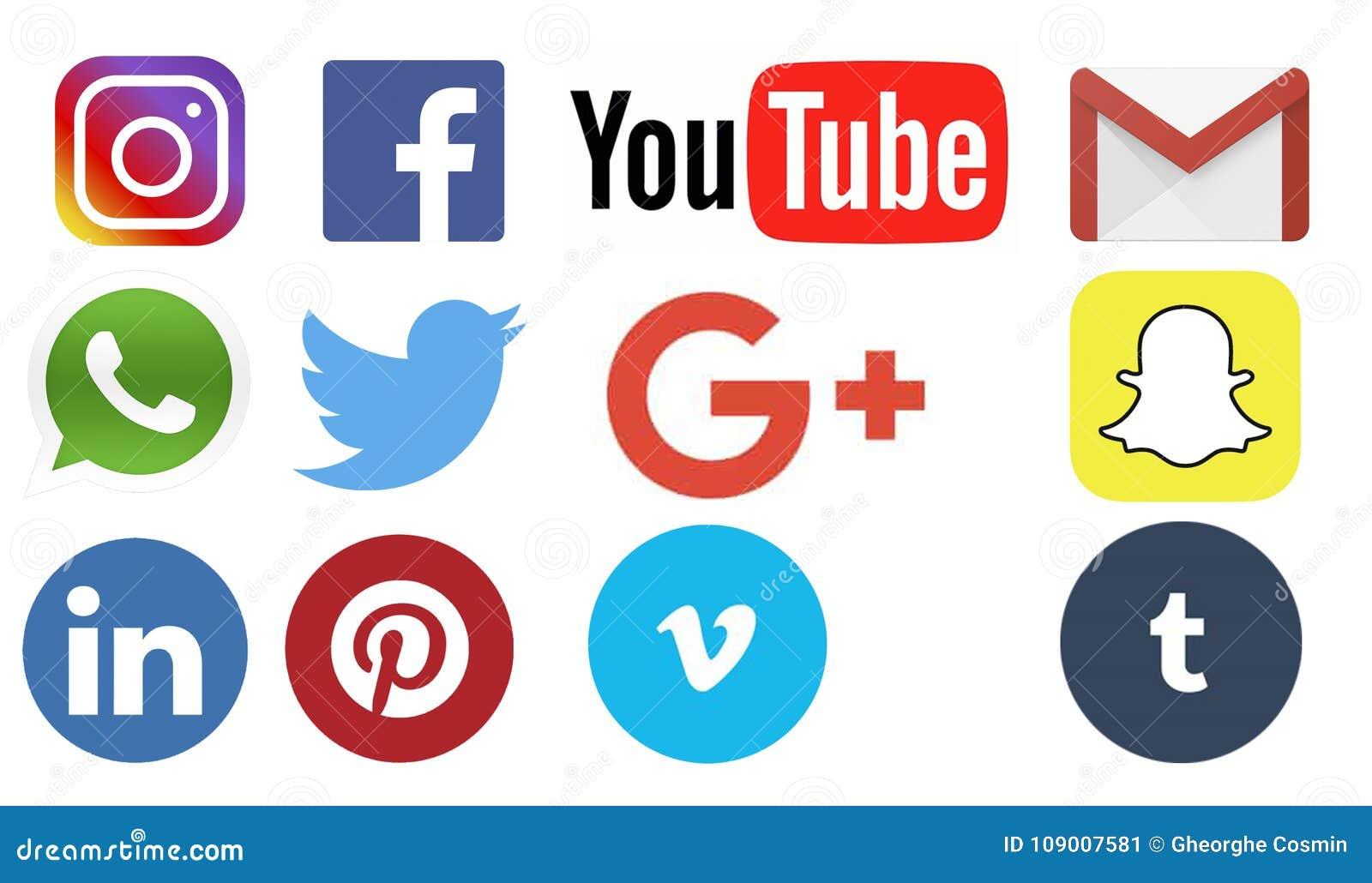 Uppsättning av sociala massmedialogoer