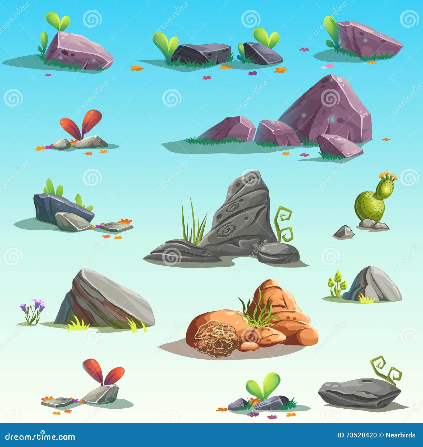 Uppsättning av stenar, stenblock