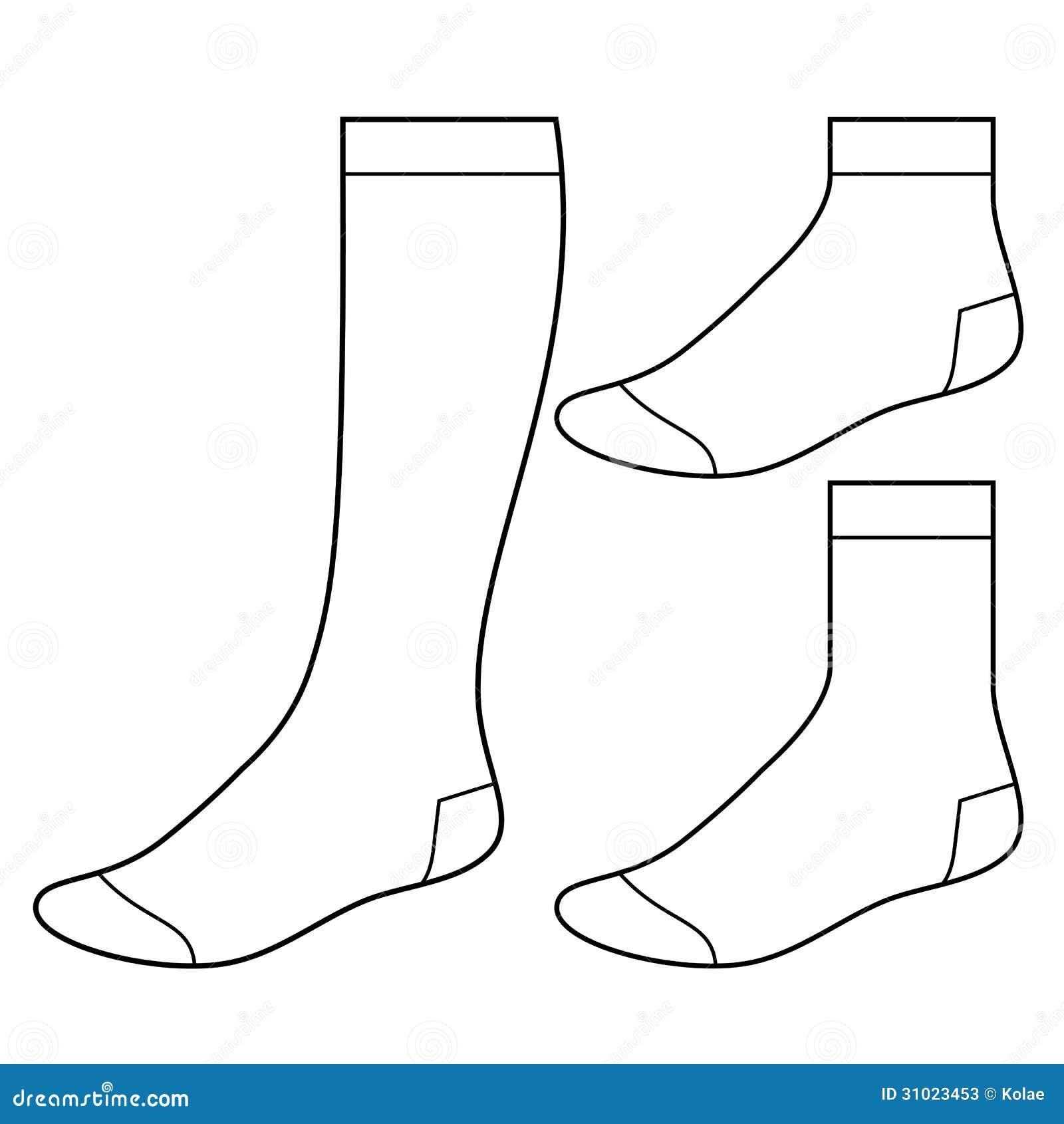 Uppsättning av tomma sockor