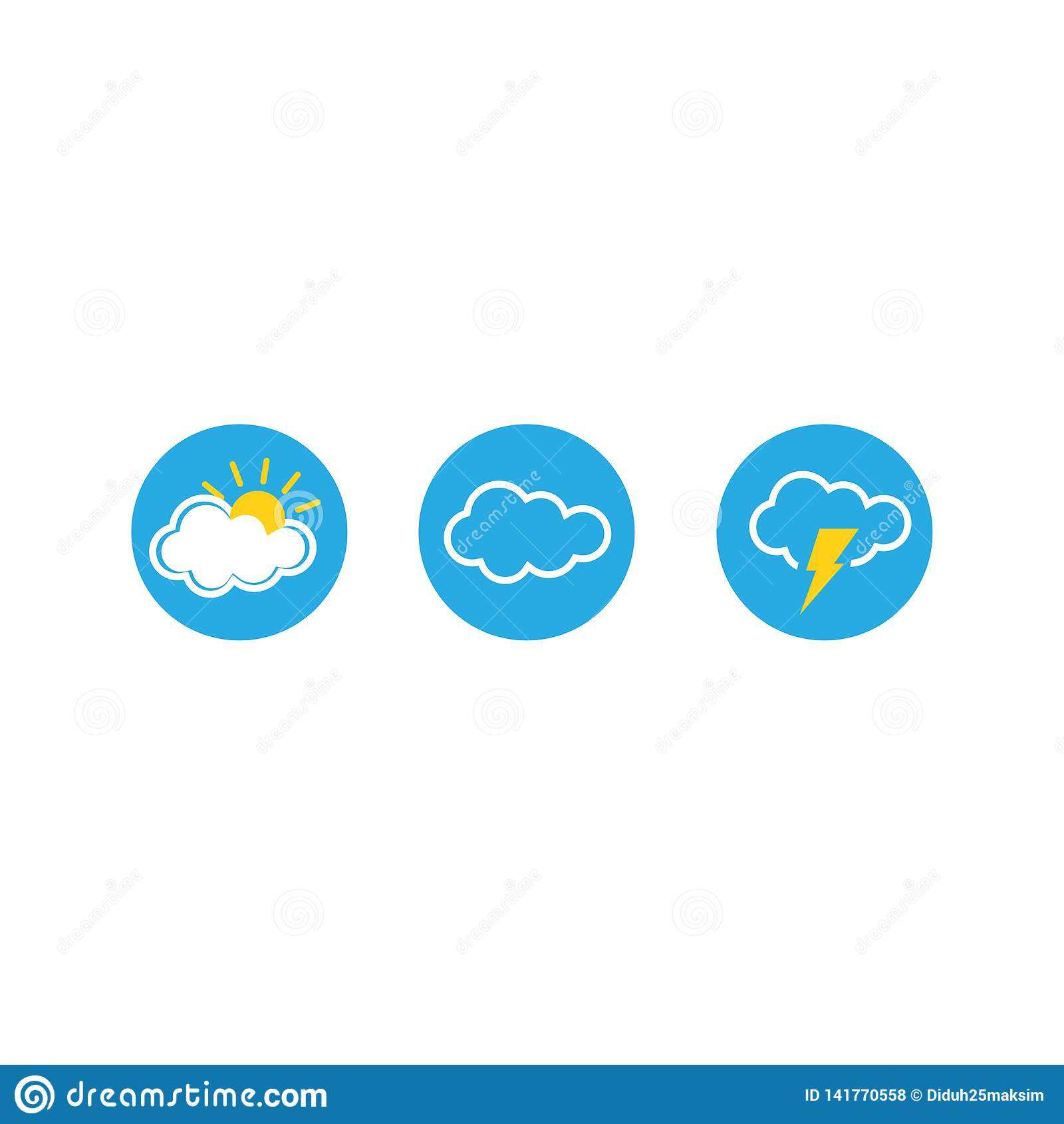 Uppsättning av vädervektorsymboler också vektor för coreldrawillustration 10 eps