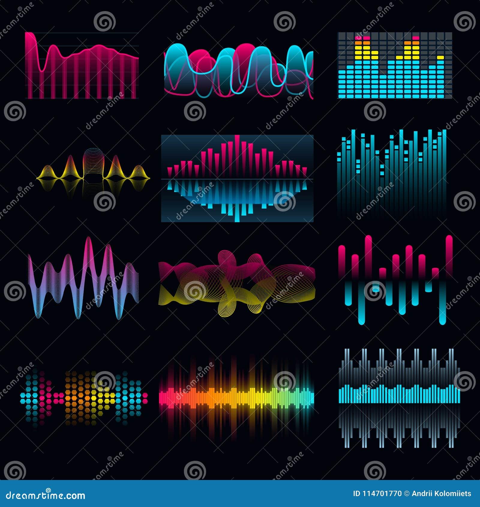 Uppsättning av vågor för musikutjämnareljudsignal