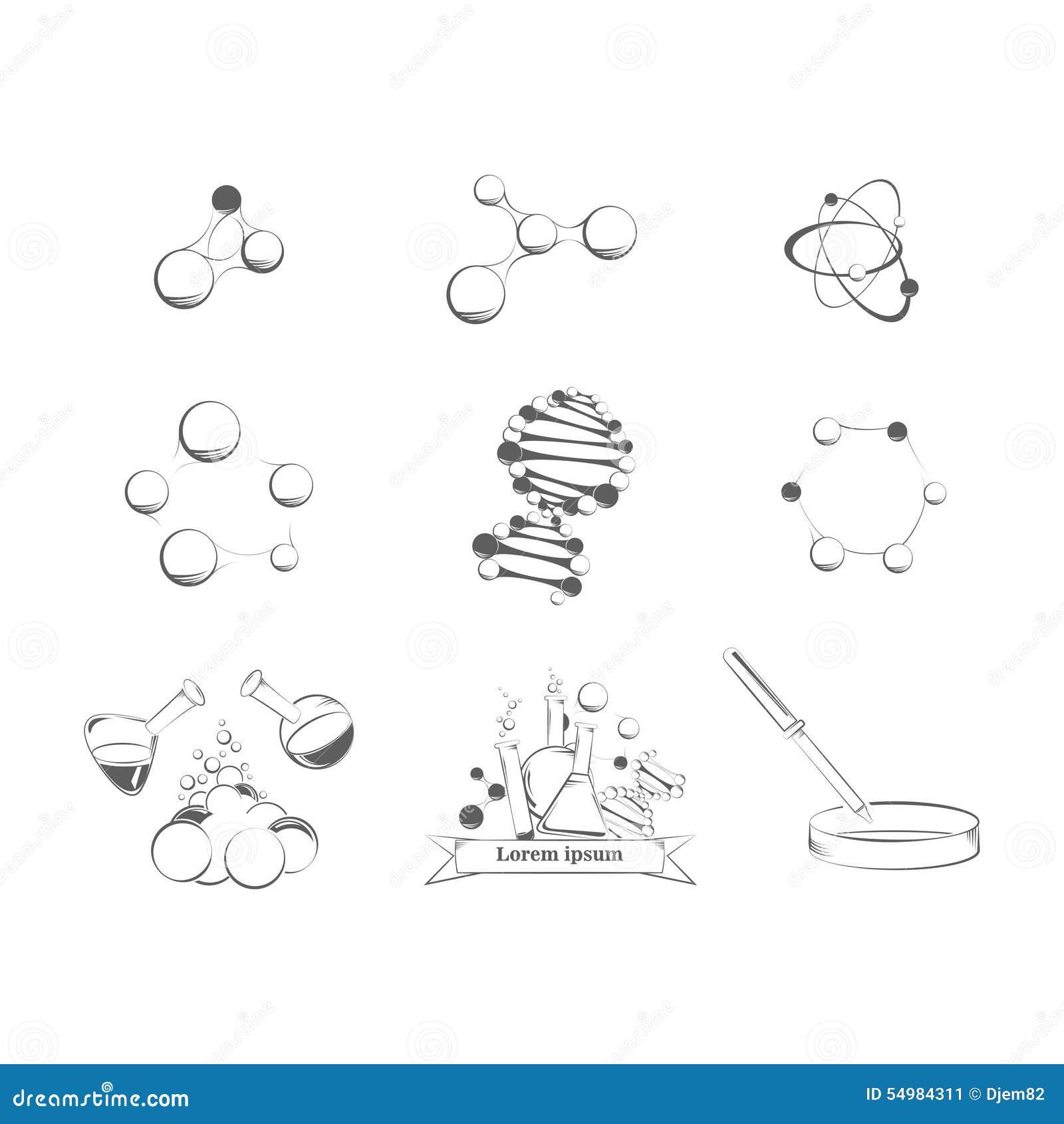 Uppsättning av vetenskapssymboler
