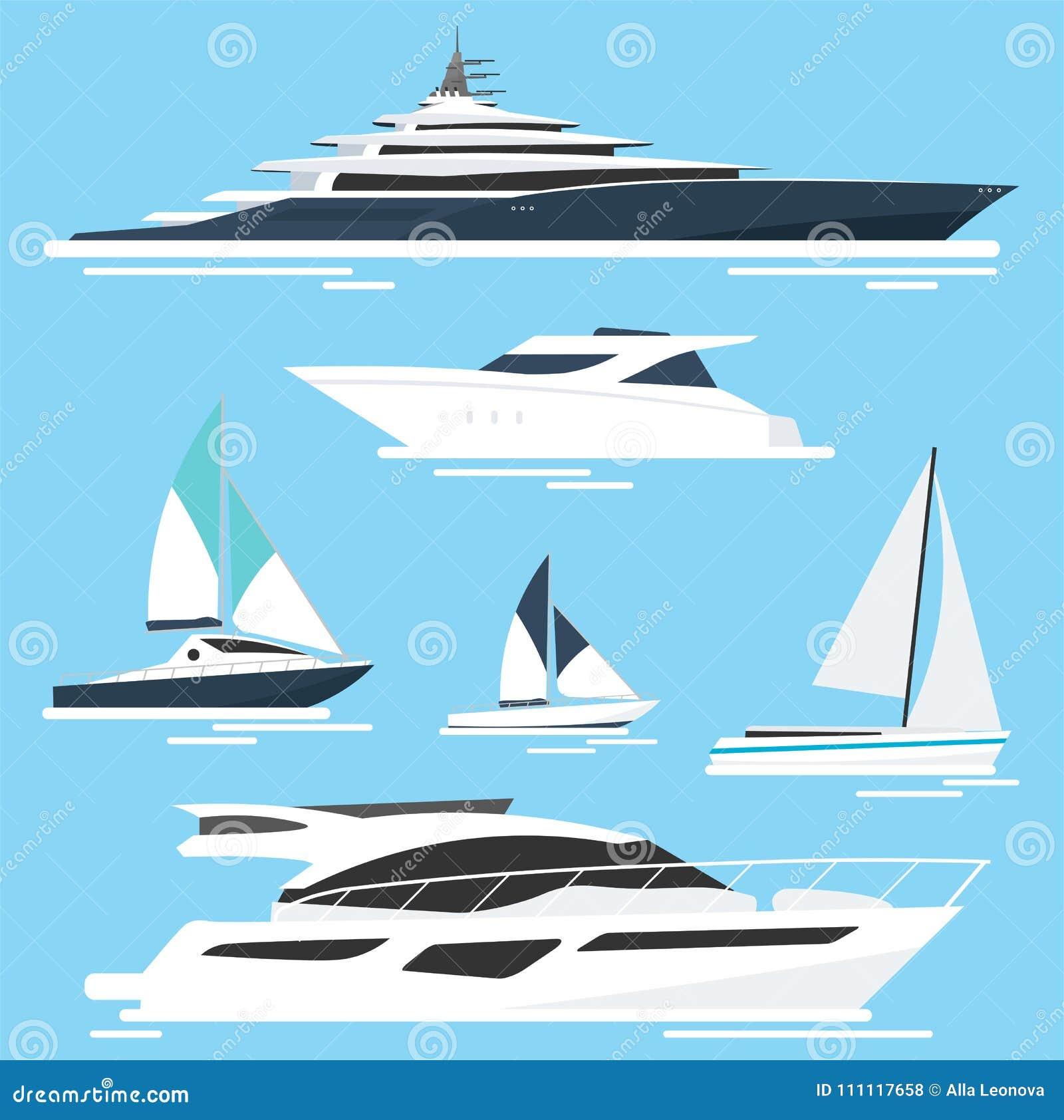 Uppsättning av yachter och fartyg lopp för hav för rött rep för closeup också vektor för coreldrawillustration