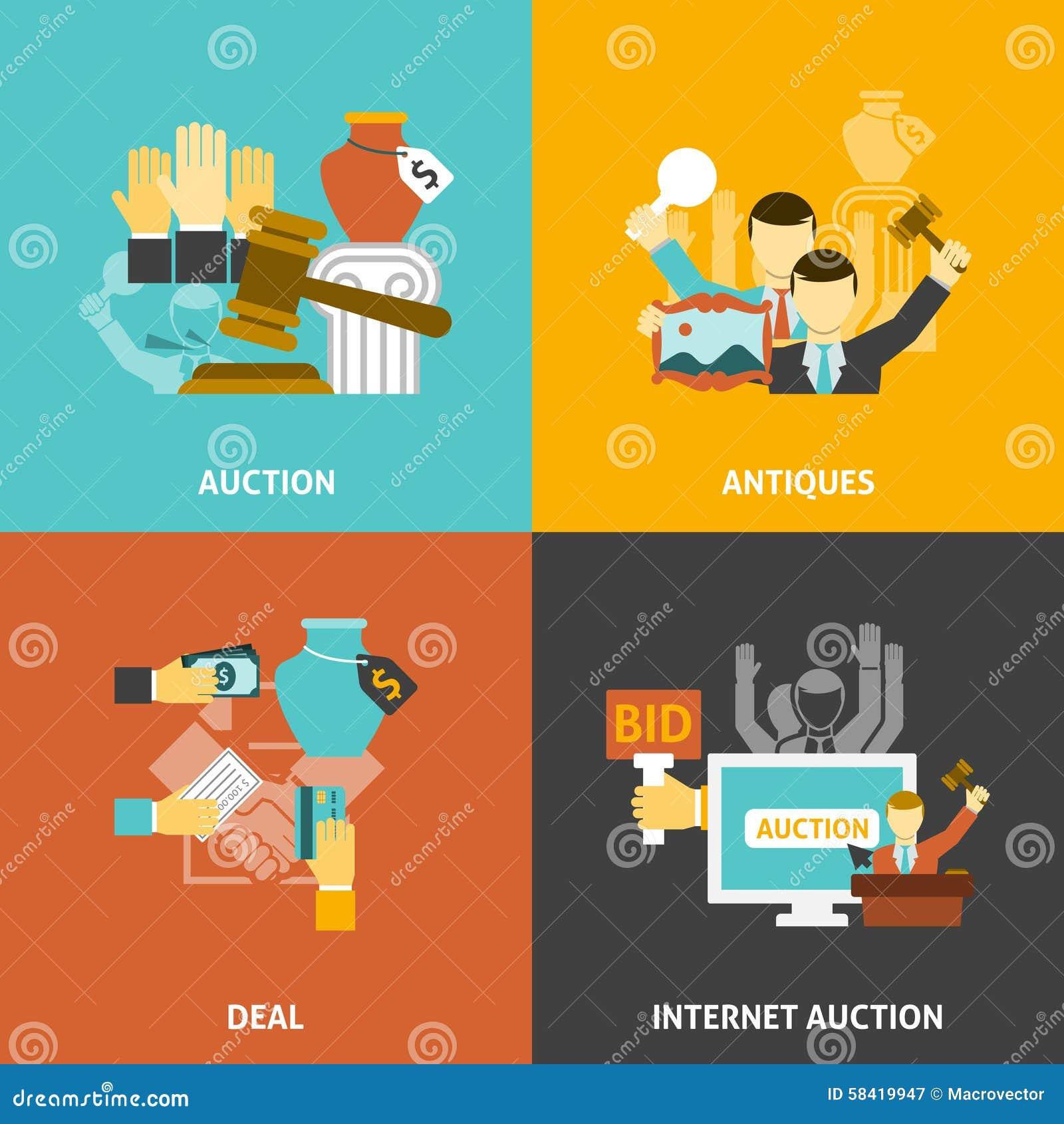 Uppsättning för auktionavtalssymboler