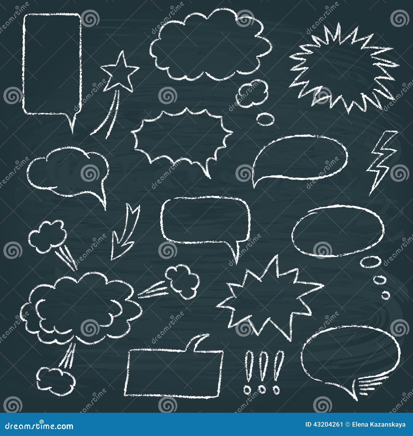 Download Uppsättning För Bubblor För Komikerstilanförande Vektor Illustrationer - Illustration av tecknat, rektangel: 43204261