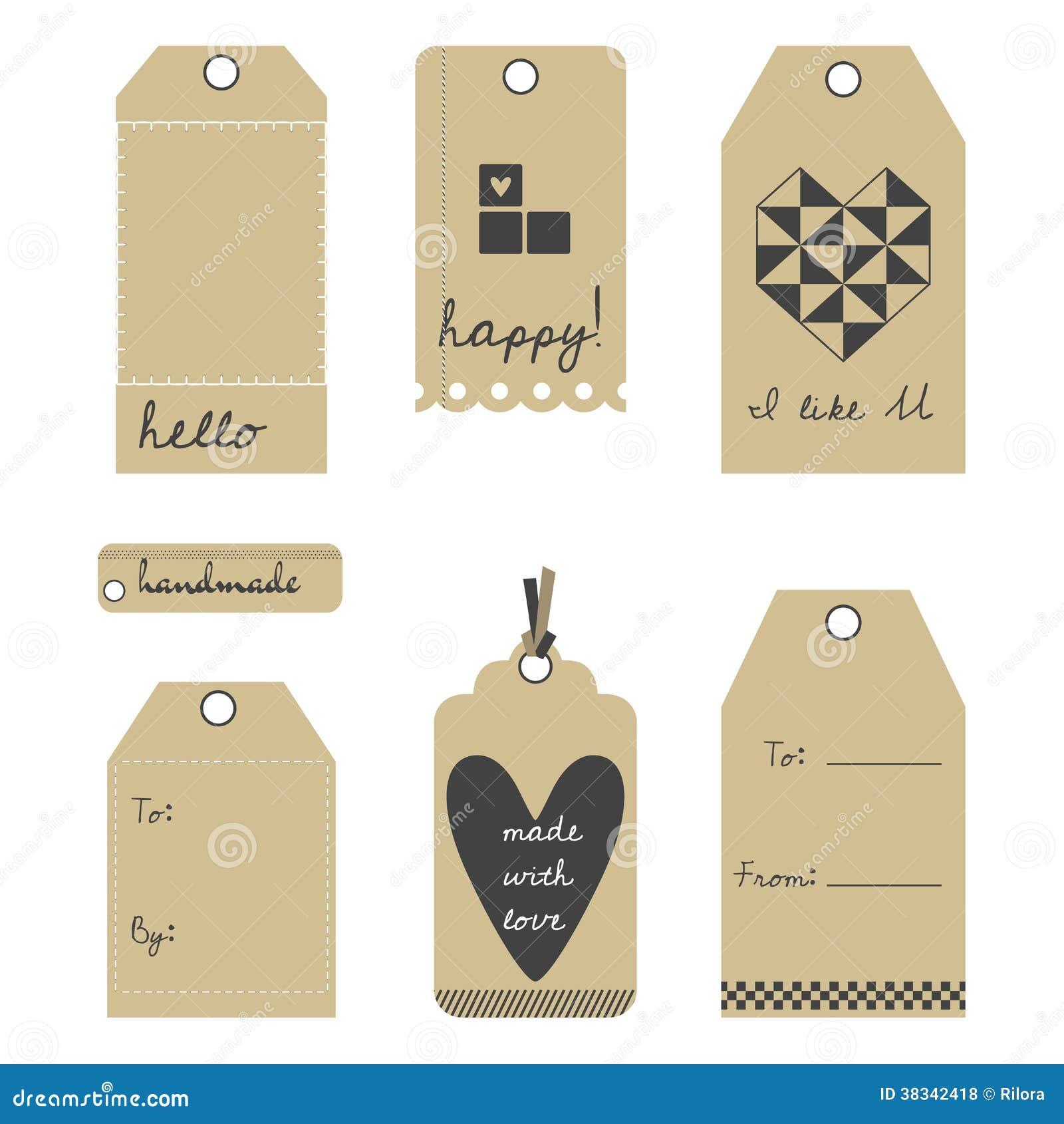 Wedding Gift Tag Free Download : Upps?ttning f?r f?r vektorg?vaetiketter eller etiketter. Denna ?r ...