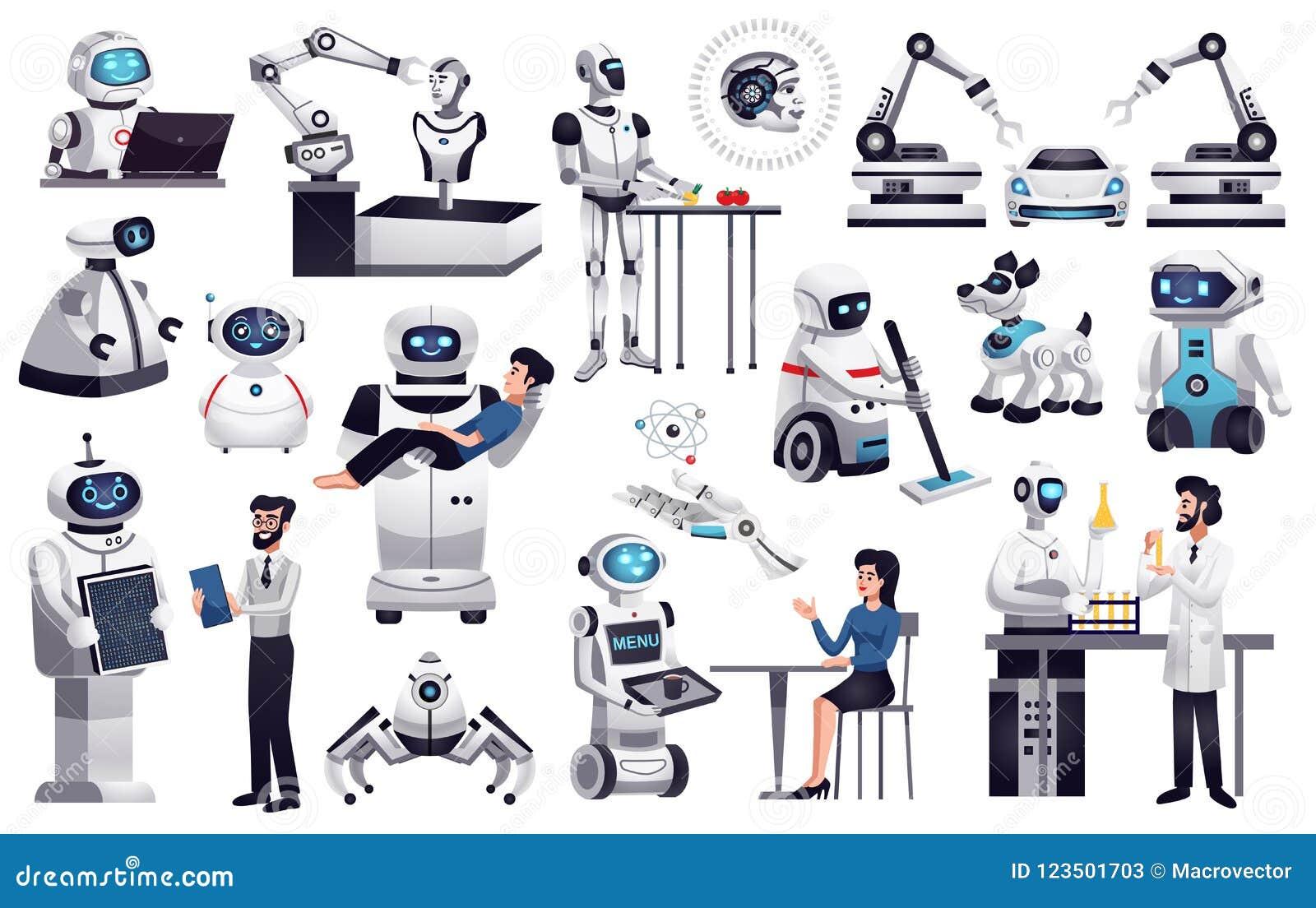 Uppsättning för konstgjord intelligens för robotar