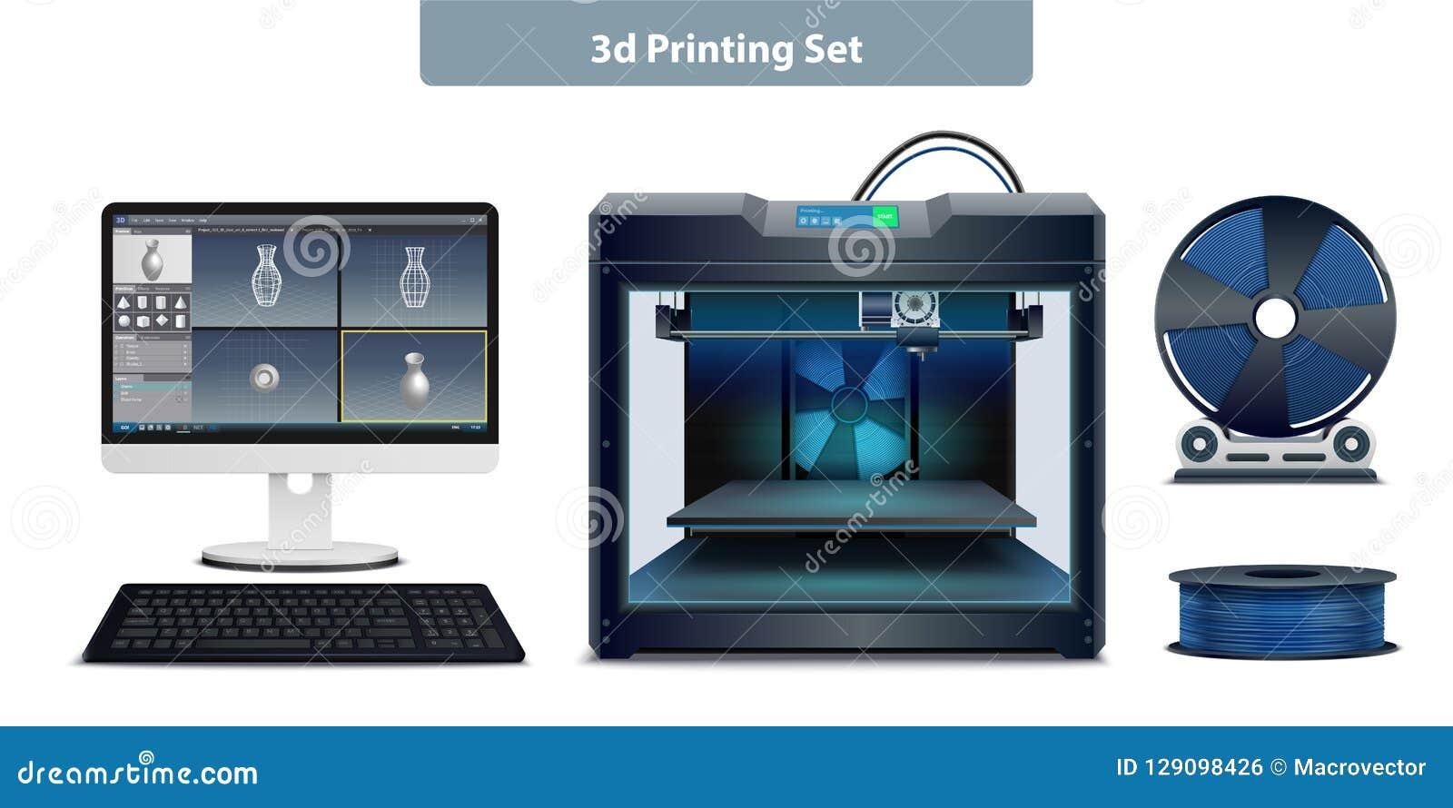 Uppsättning för printing 3d