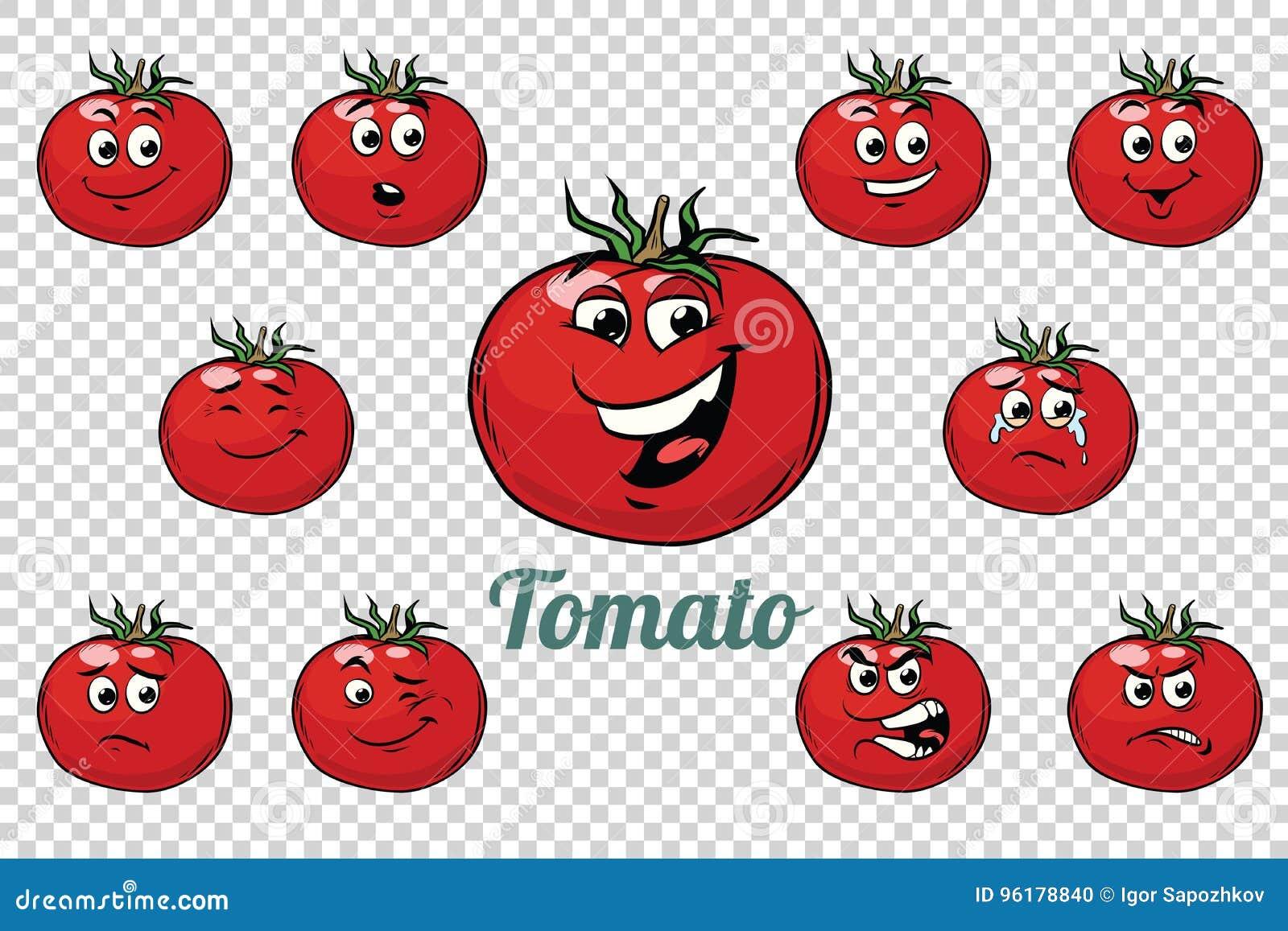 Uppsättning för samling för tomatsinnesrörelsetecken