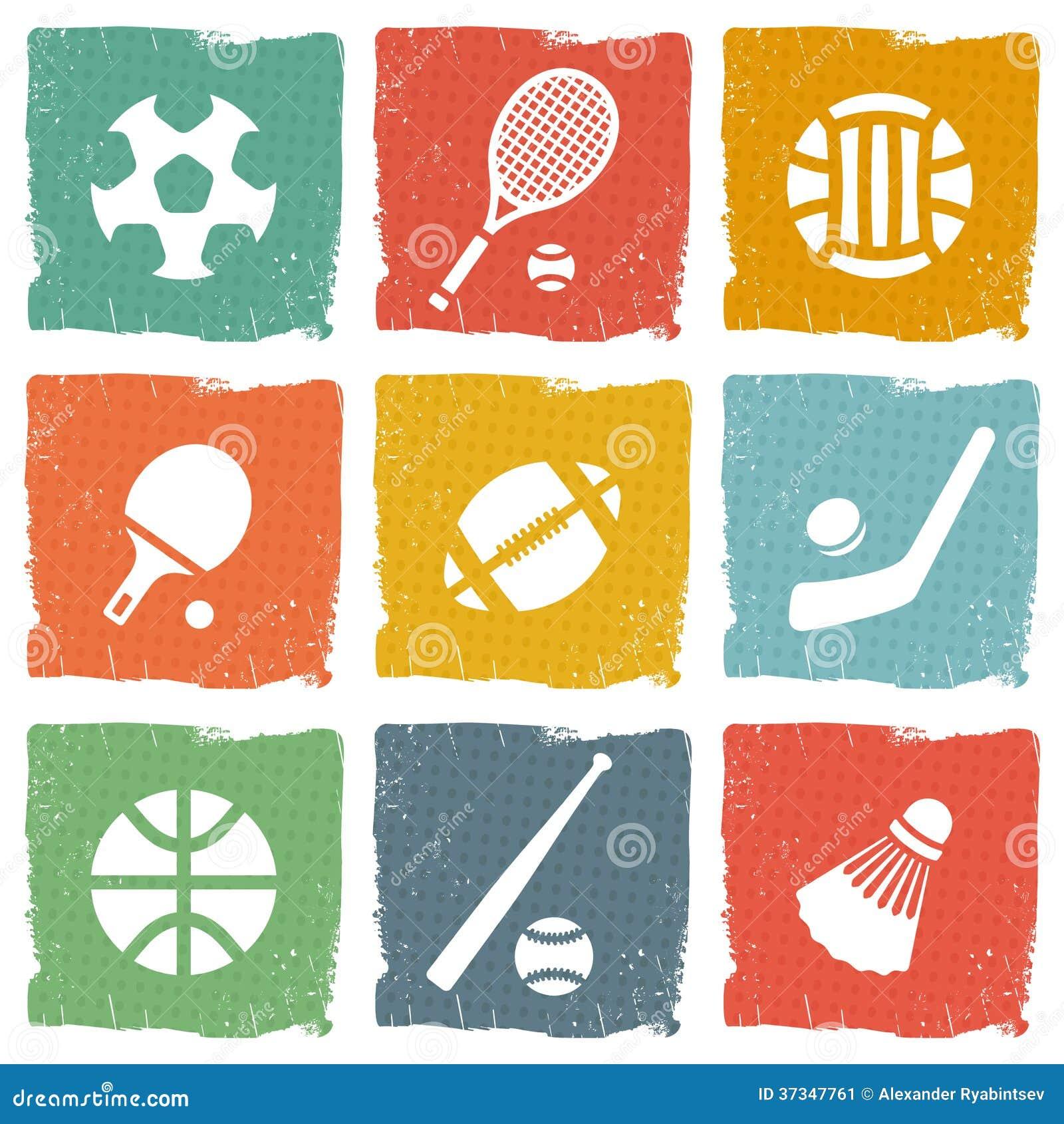 Uppsättning för sporttemasymbol