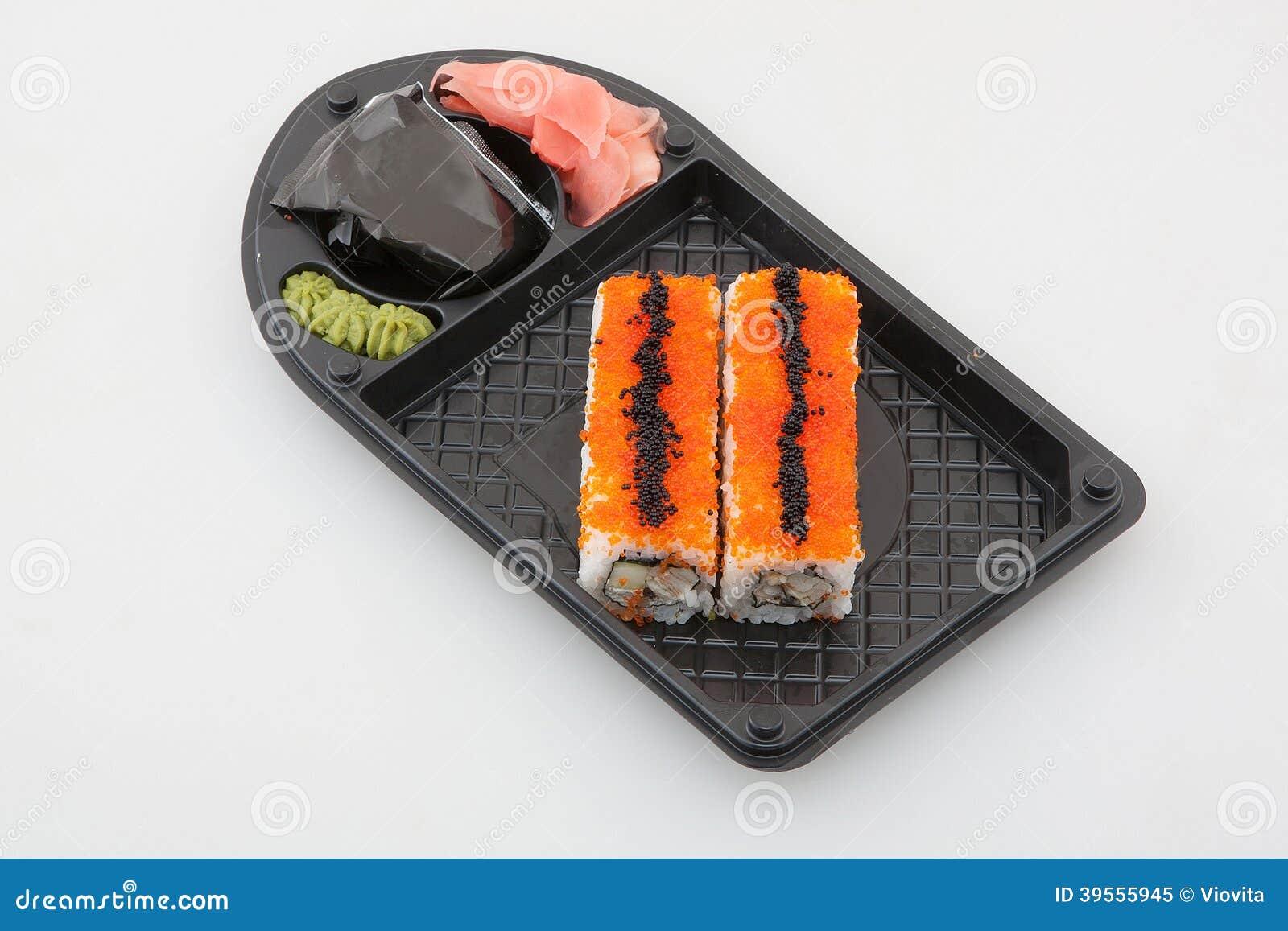 Uppsättning för sushirulle, japansk kokkonst
